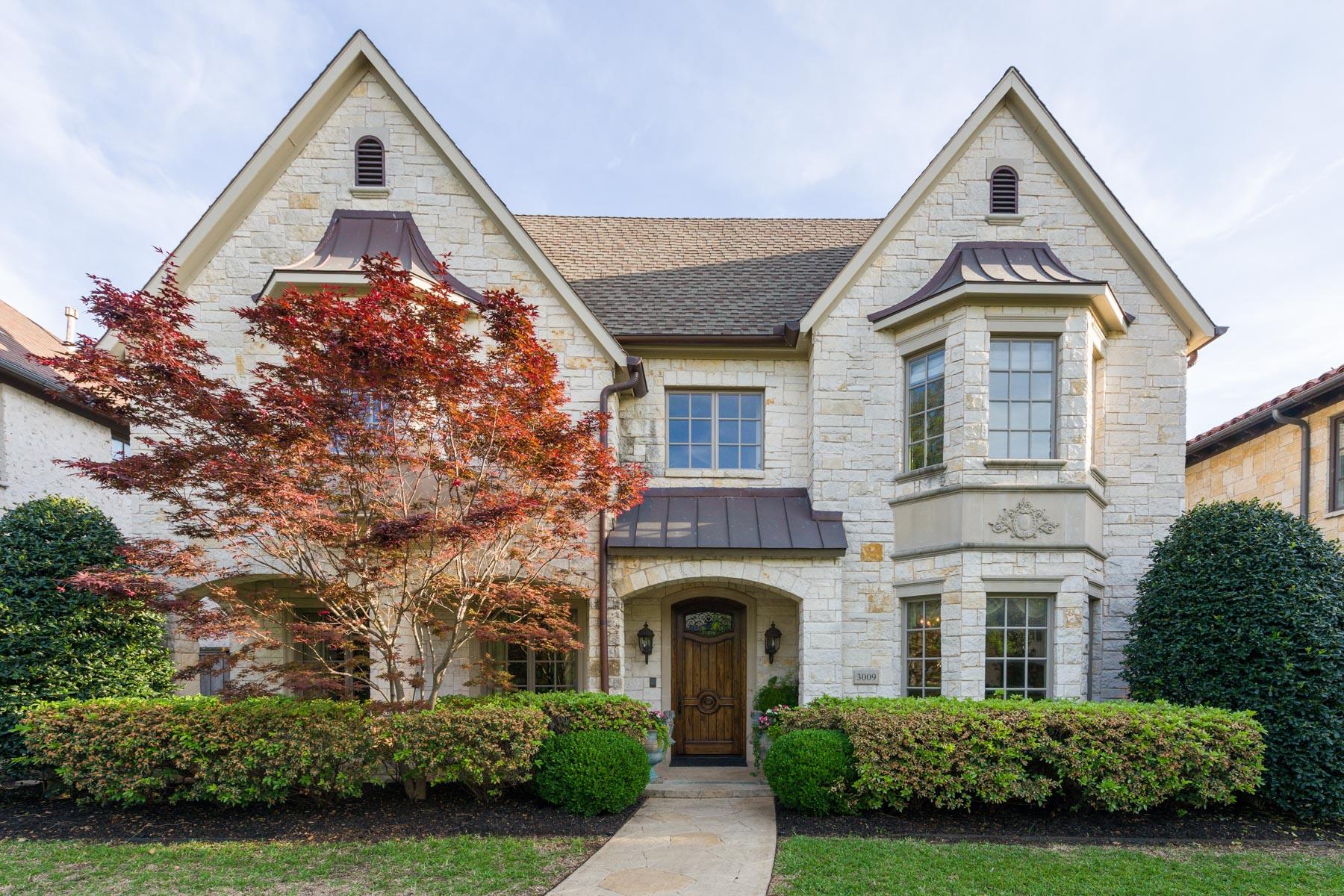 Частный односемейный дом для того Продажа на Lovely Traditional in University Park 3009 Amherst Ave Dallas, Техас, 75225 Соединенные Штаты