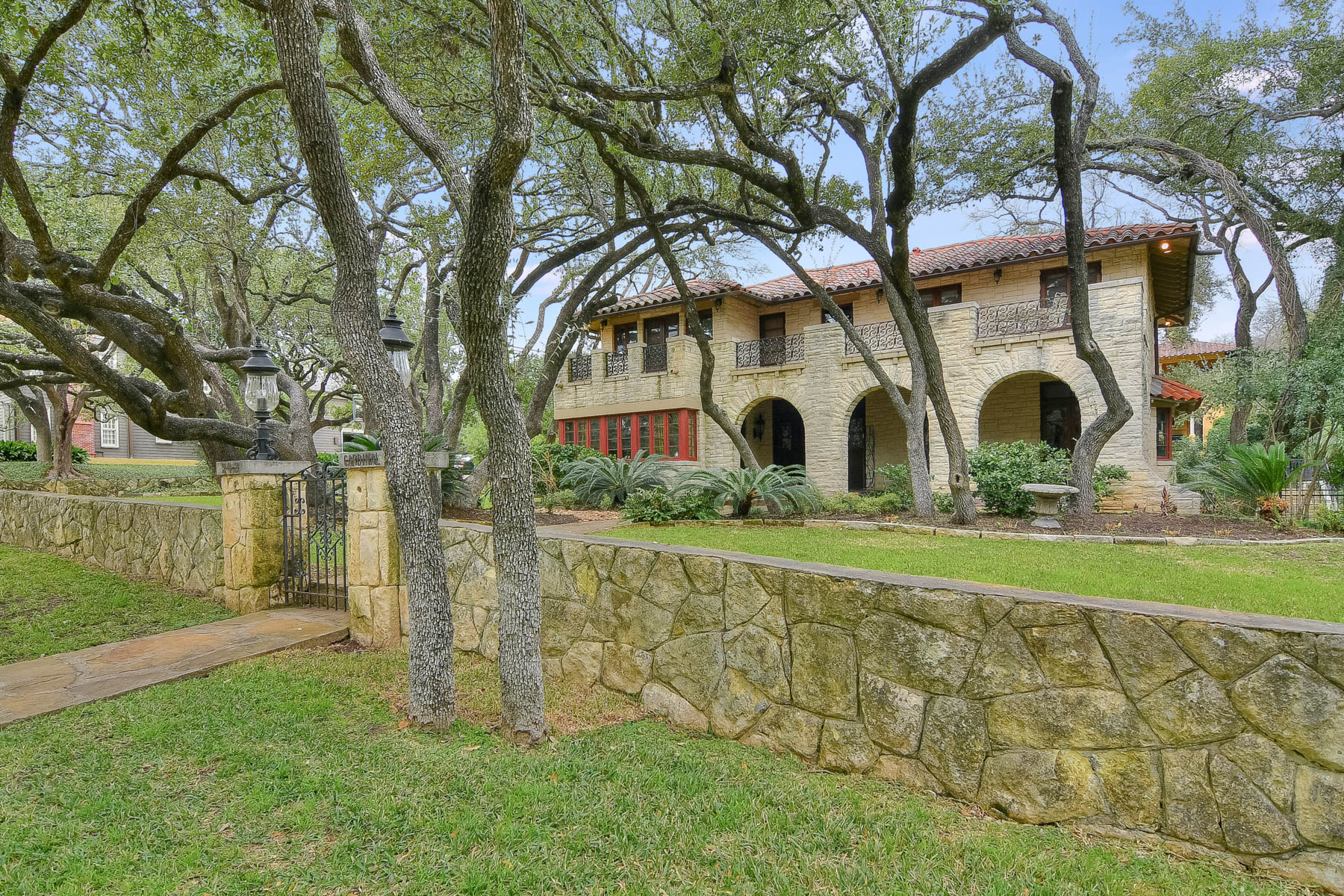Single Family Home for Sale at Gorgeous Monterrey Colonial in Alamo Heights 243 Cardinal Ave San Antonio, Texas 78209 United States