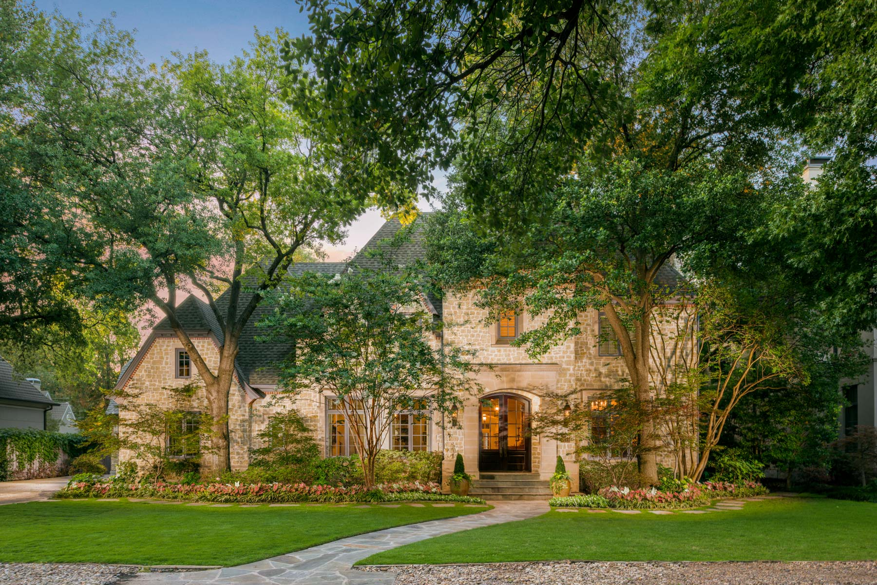 Single Family Home for Sale at Elegant French Normandy 6123 Mimosa Ln Dallas, Texas, 75230 United States