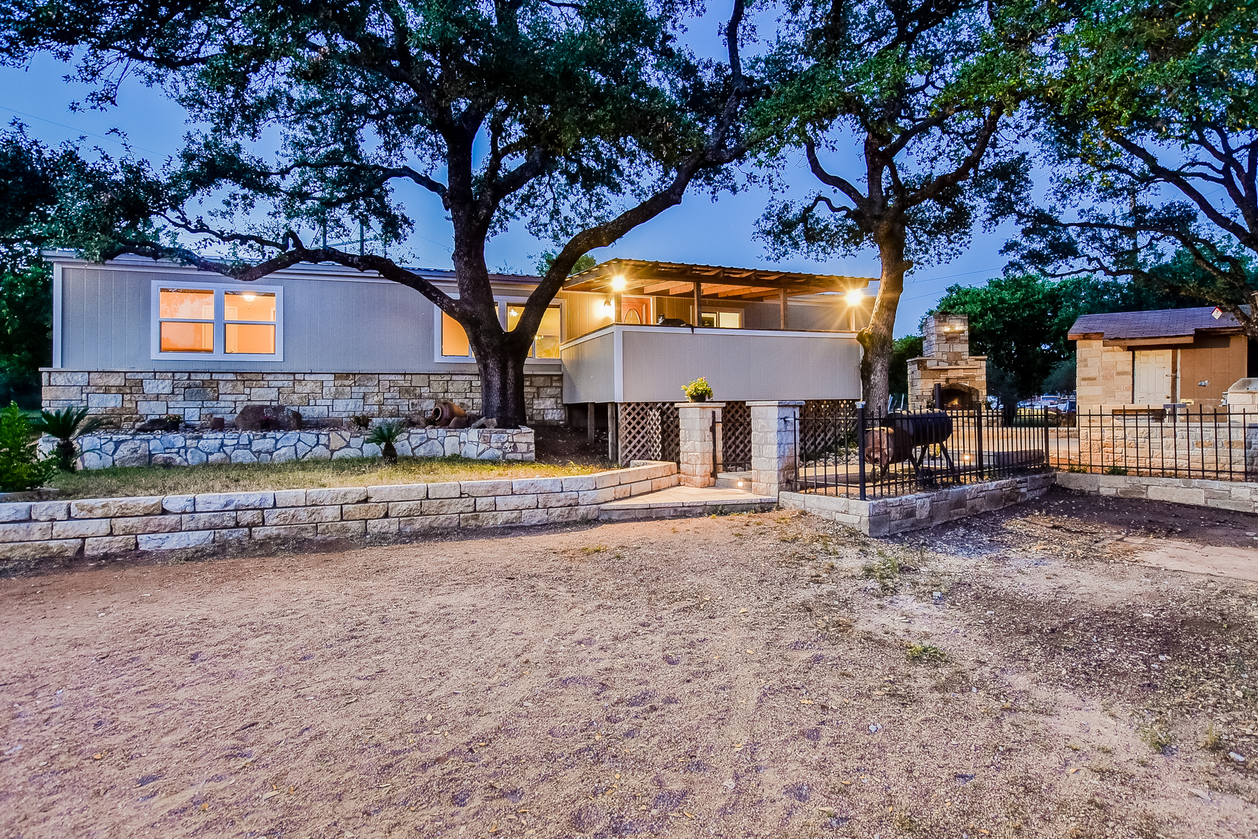 Single Family Home for Sale at Private And Beautiful Home in Cottonwood Shores 809 Westwood Dr Cottonwood, Texas 78657 United States