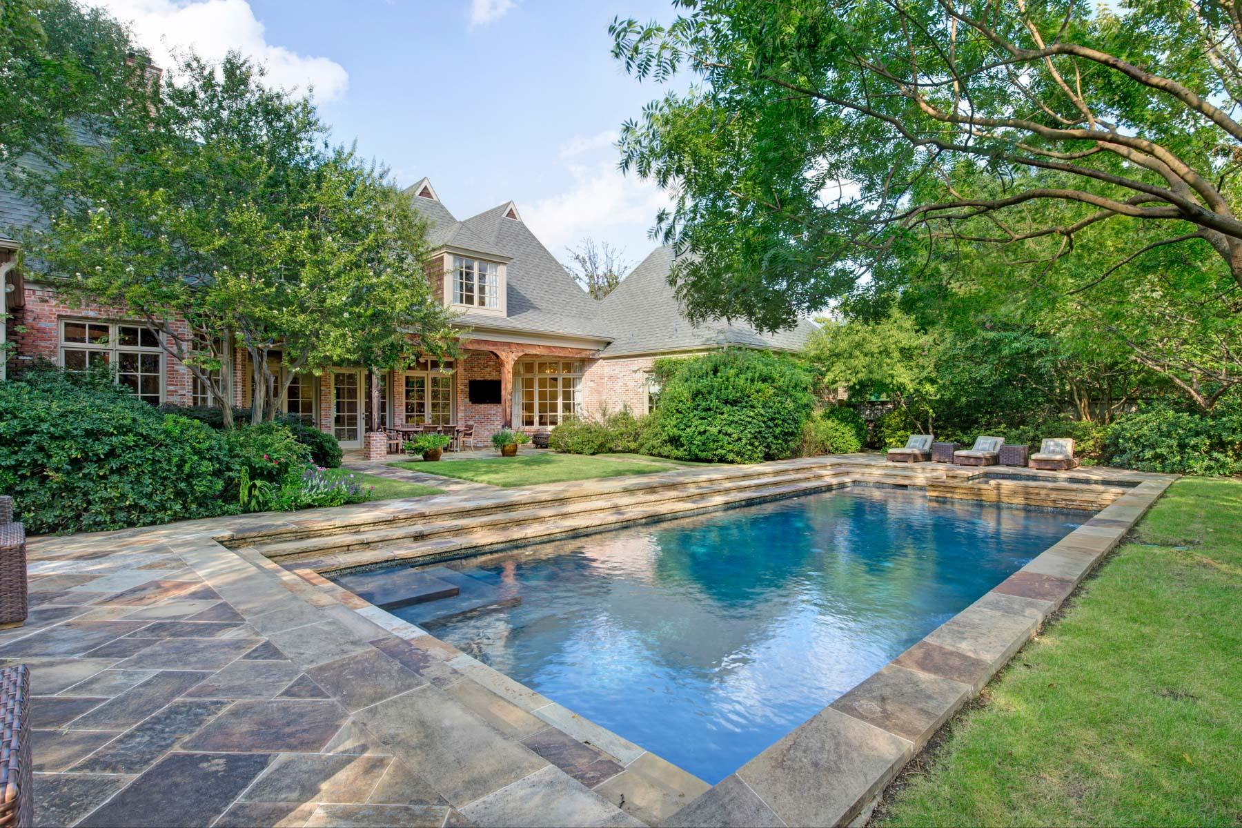 Villa per Vendita alle ore Stunning Custom Gated French Normandy 6054 Norway Rd Dallas, Texas, 75230 Stati Uniti