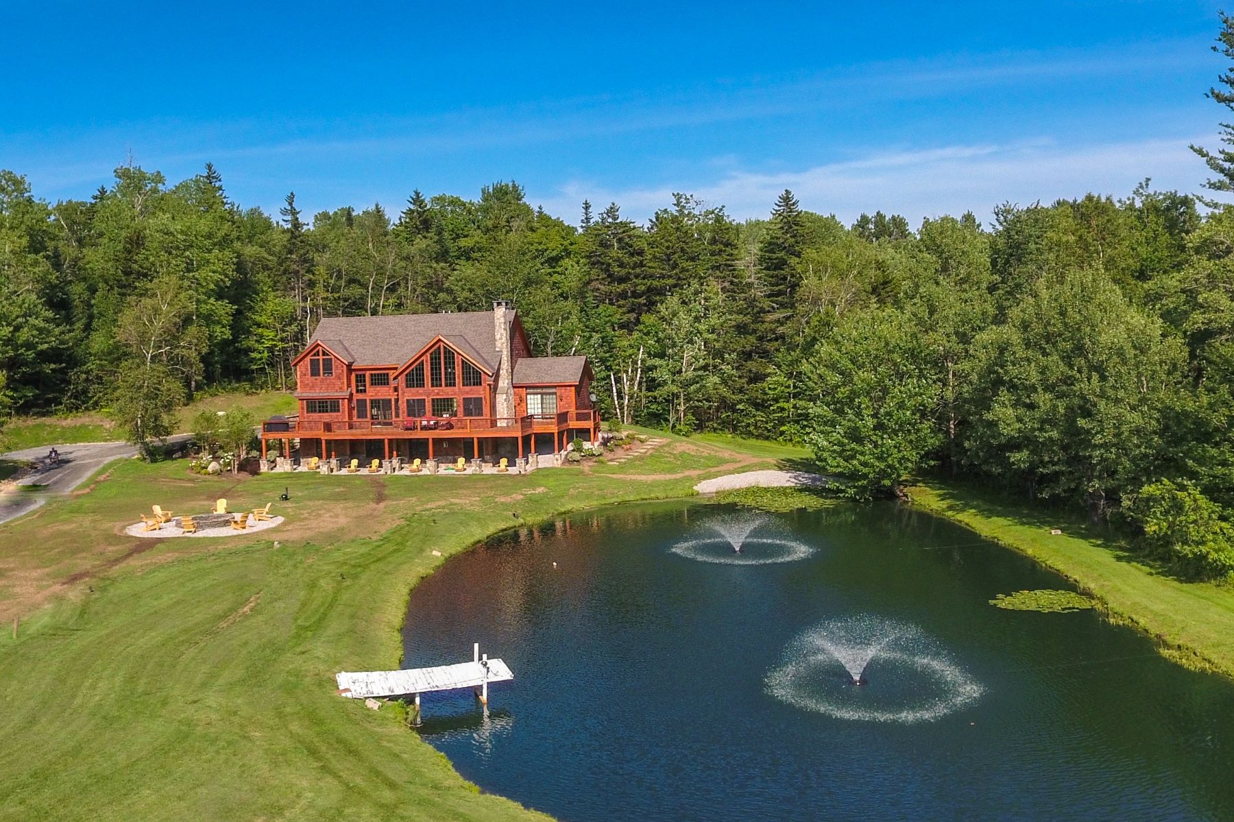 Casa Unifamiliar por un Venta en Spectacular Country Retreat 453 Coldbrook Wilmington, Vermont, 05363 Estados Unidos