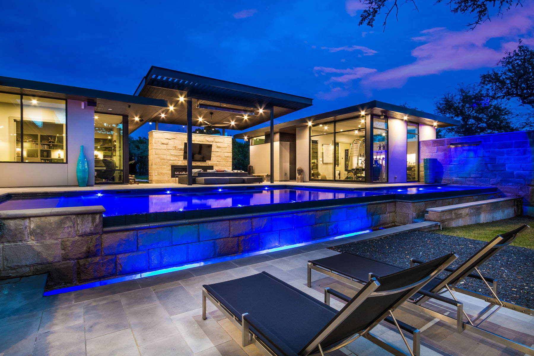 Single Family Home for Sale at Tranquil Contemporary in Barton Creek 4017 Verano Dr Austin, Texas 78735 United States
