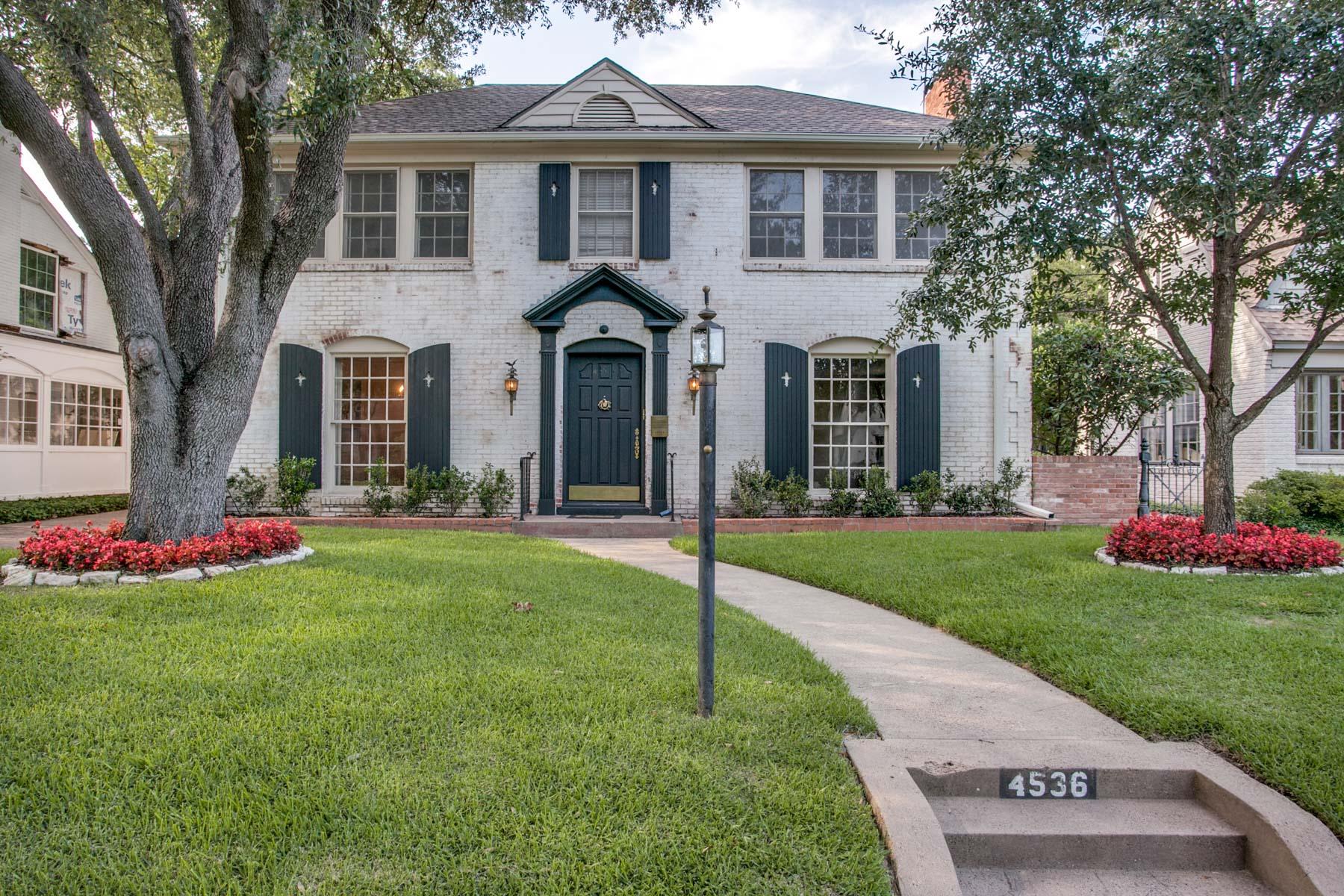 一戸建て のために 売買 アット Traditional Home with Nice Drive Up 4536 N Versailles Ave Highland Park, テキサス, 75205 アメリカ合衆国
