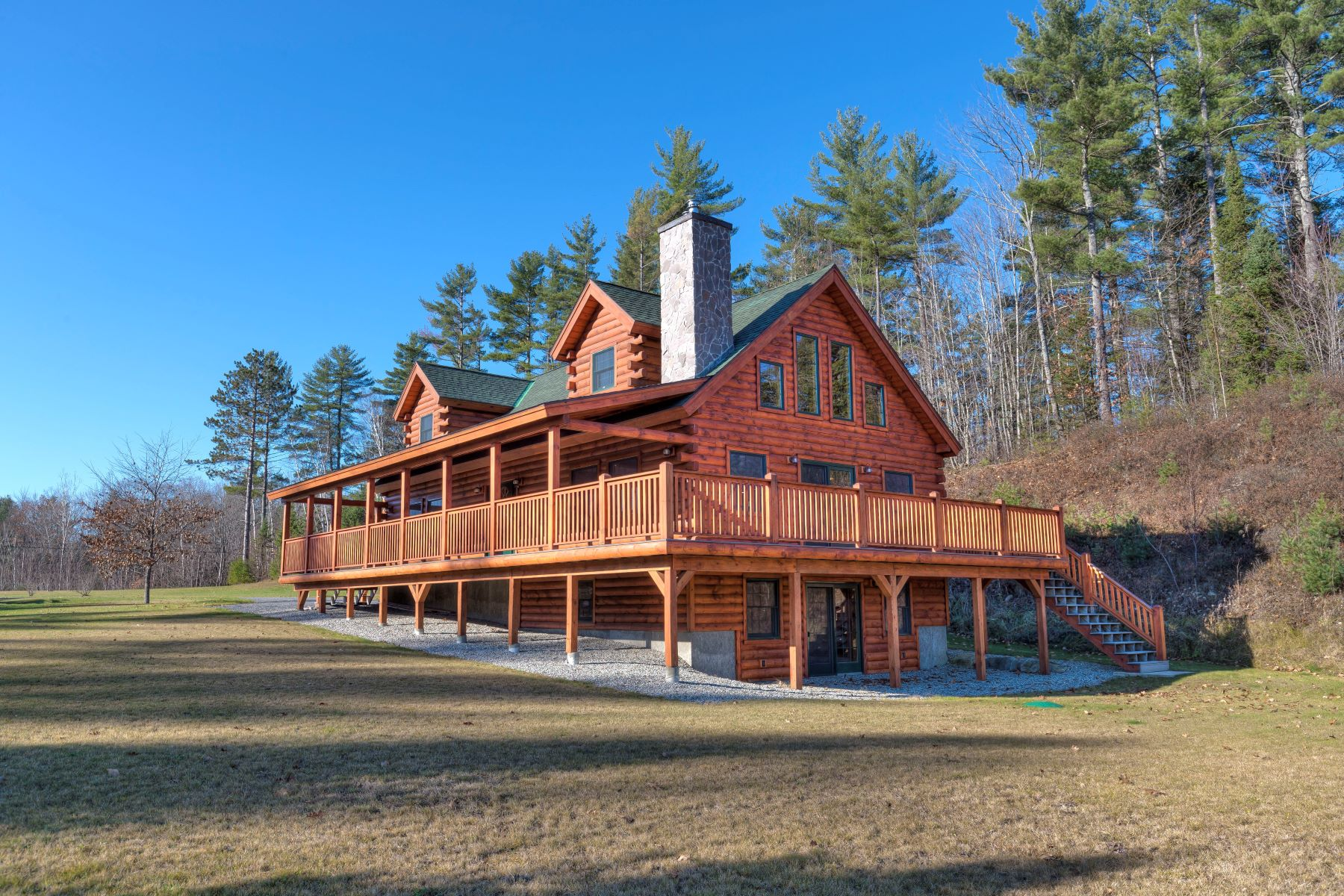 Single Family Home for Sale at New log home with views in Bath 9 Fenn Way Cir Bath, New Hampshire, 03740 United States