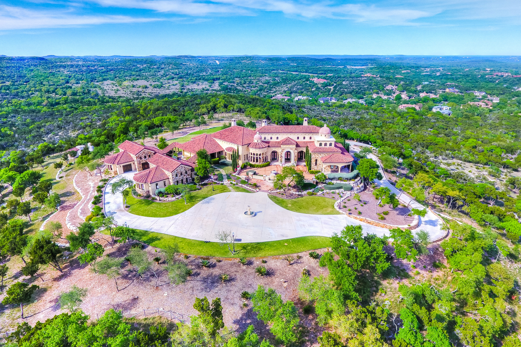 Single Family Home for Sale at Palazzo Paraiso/An Estate of Exceptional Grandeur 24818 Miranda Ridge Boerne, Texas 78006 United States