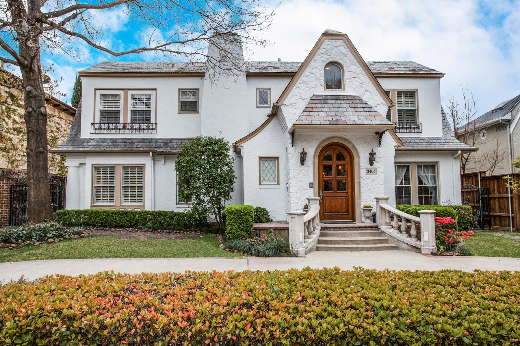 단독 가정 주택 용 매매 에 Highland Park French Style 3405 Princeton Dallas, 텍사스, 75205 미국