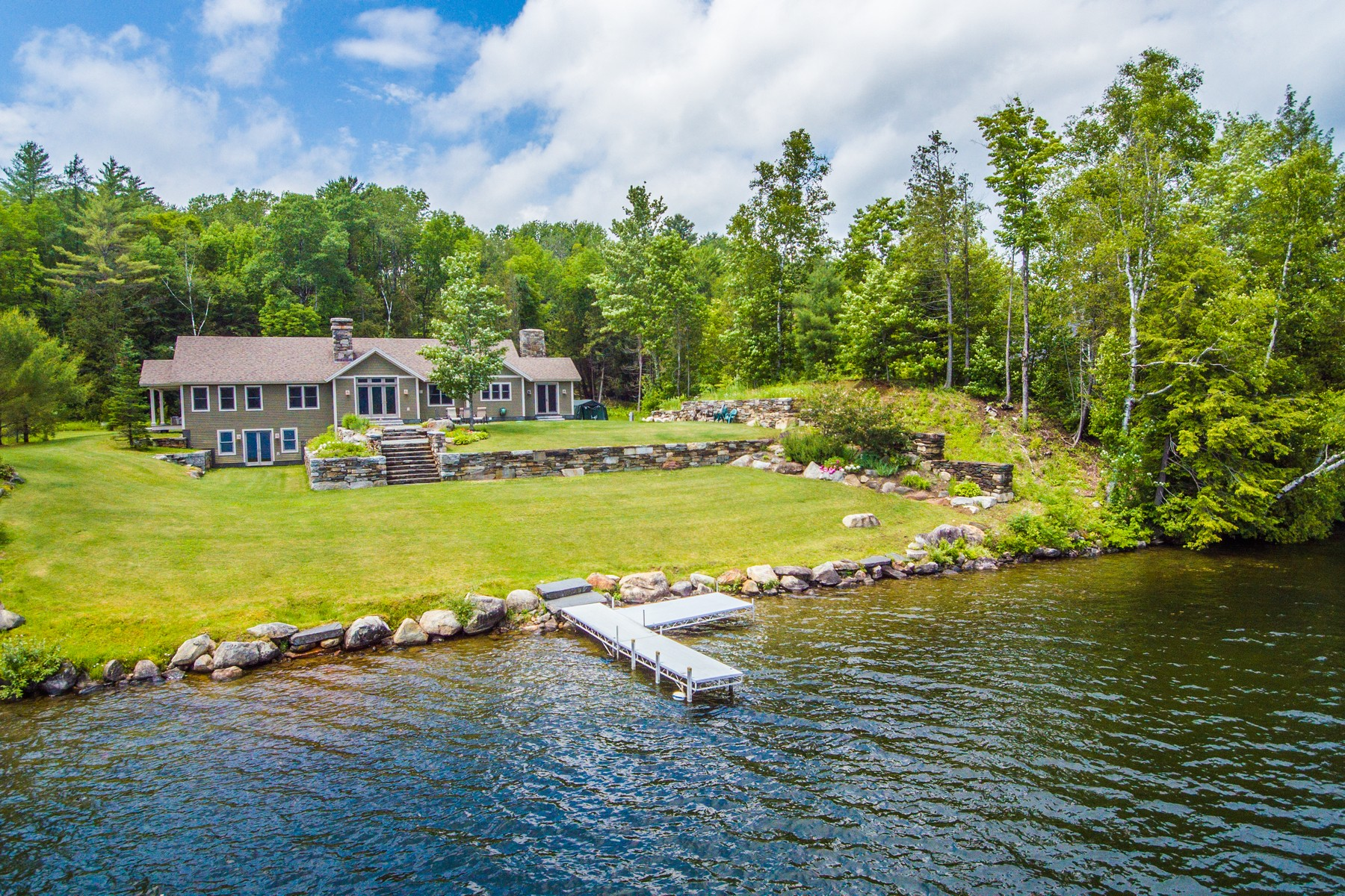 single family homes for Sale at Custom Home on Harvey's Lake 335 Slayton Ln Barnet, Vermont 05821 United States