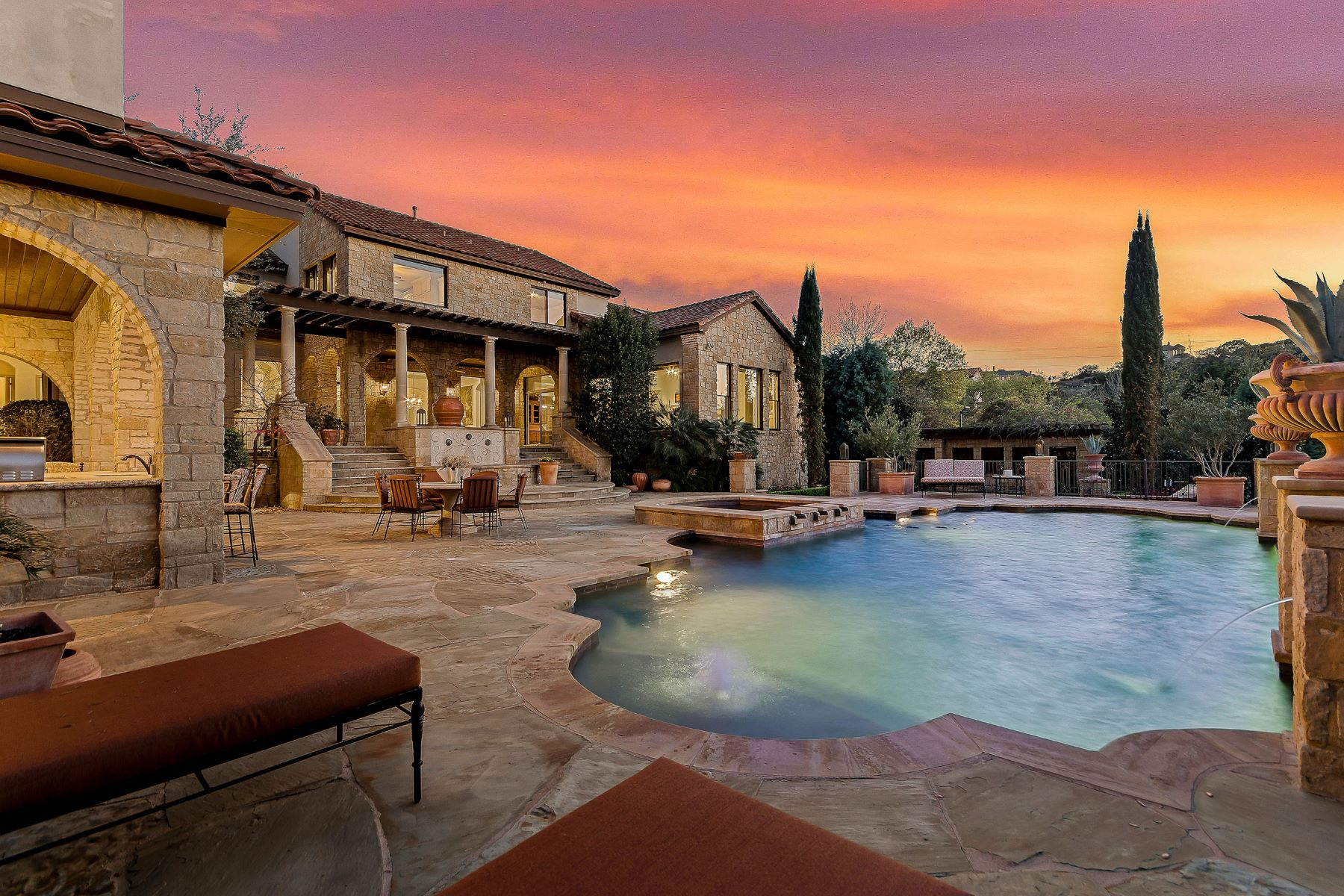 Single Family Home for Sale at Villa with Supreme Amenities and Craftsmanship 216 Brandon Way Austin, Texas 78733 United States