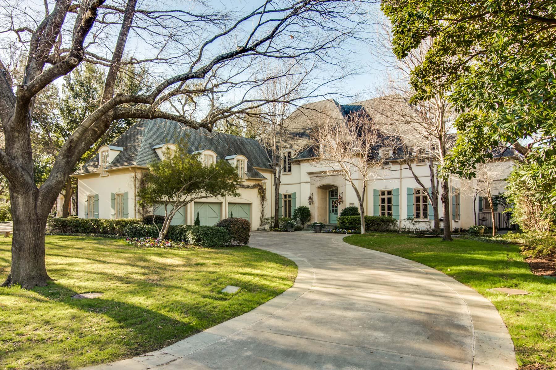 一戸建て のために 売買 アット Gracious Traditional in Bluffview Estates 4721 Cherokee Trl Dallas, テキサス, 75209 アメリカ合衆国