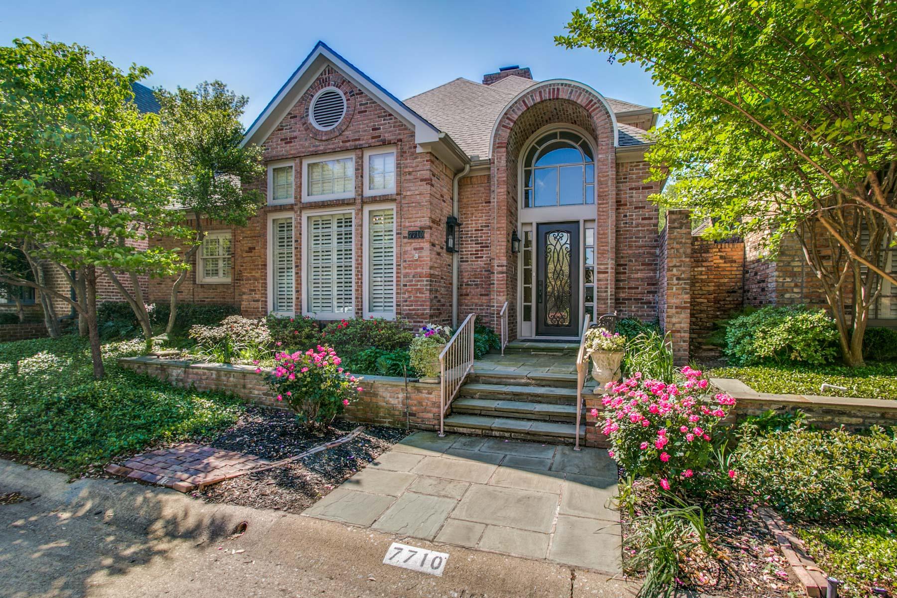 Частный односемейный дом для того Продажа на 7710 Marquette St, Dallas Dallas, Техас, 75225 Соединенные Штаты
