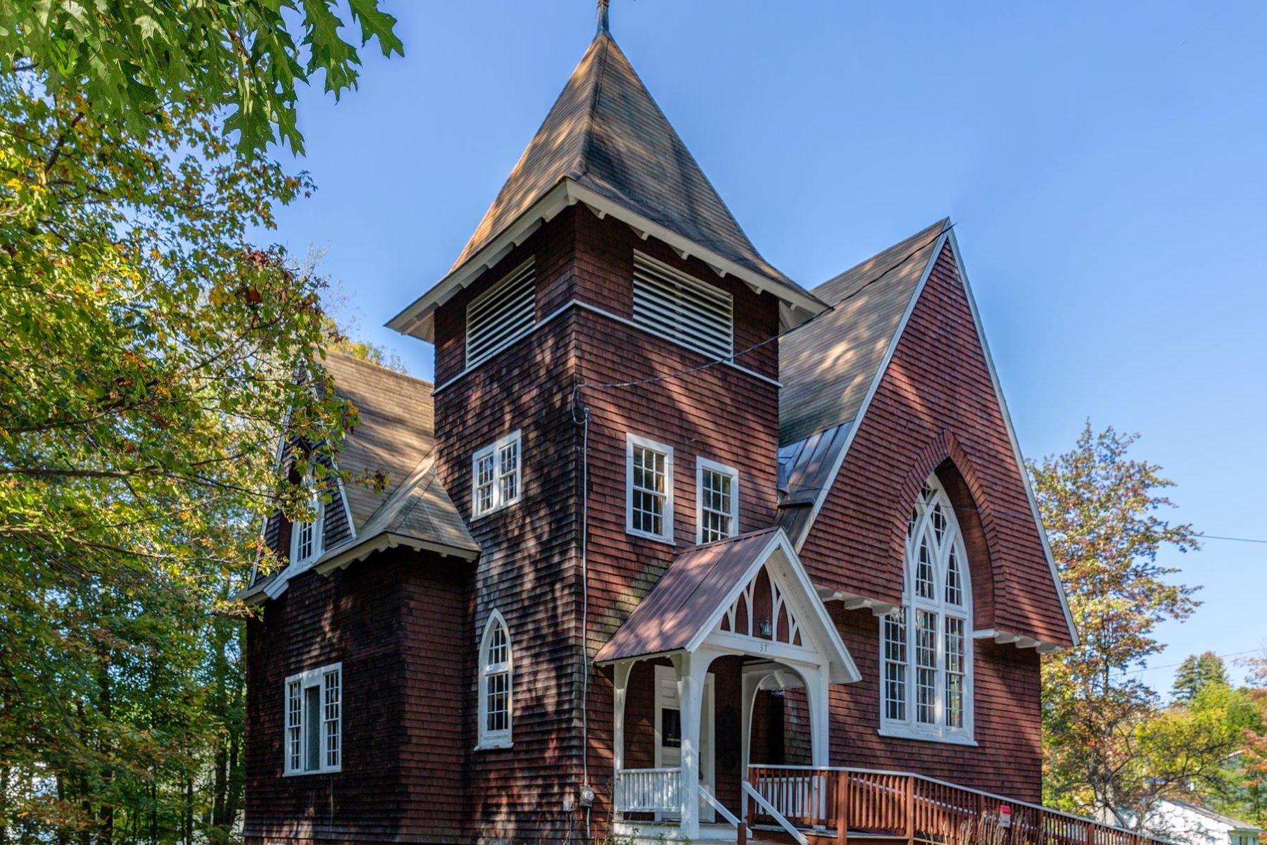Single Family Home for Sale at Historic church offering unlimited possibilities 37 Prospect Hill, Sunapee, New Hampshire, 03782 United States