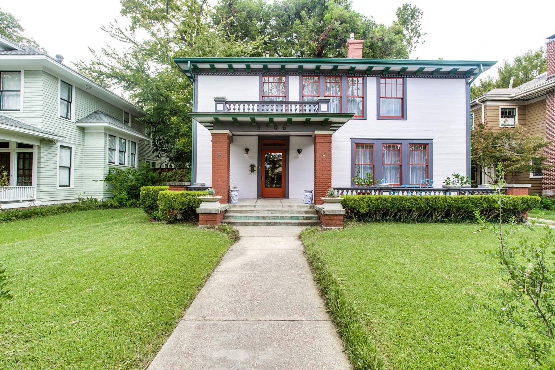 Nhà ở một gia đình vì Bán tại Historic Munger Place Home 5106 Junius St Dallas, Texas, 75214 Hoa Kỳ