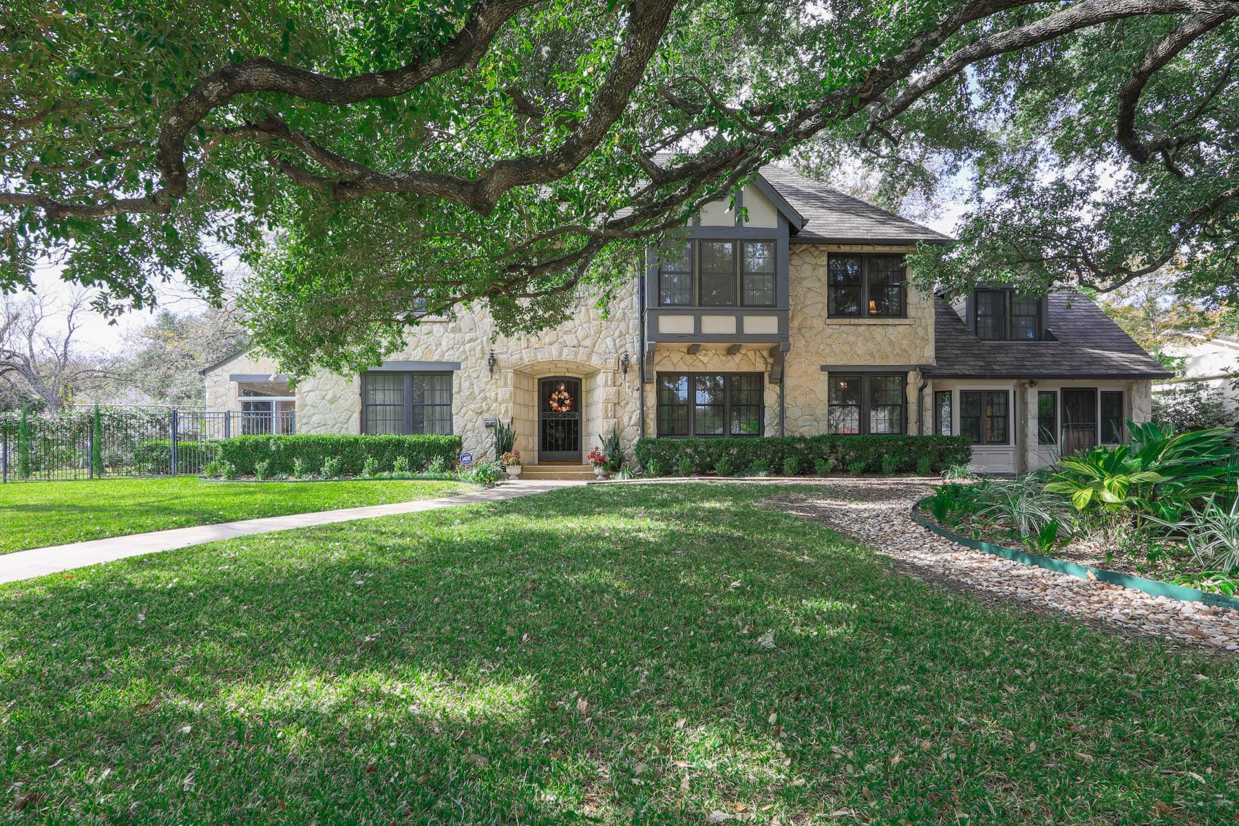 Single Family Home for Sale at Stunning Olmos Park Tudor 303 W El Prado Dr San Antonio, Texas 78212 United States