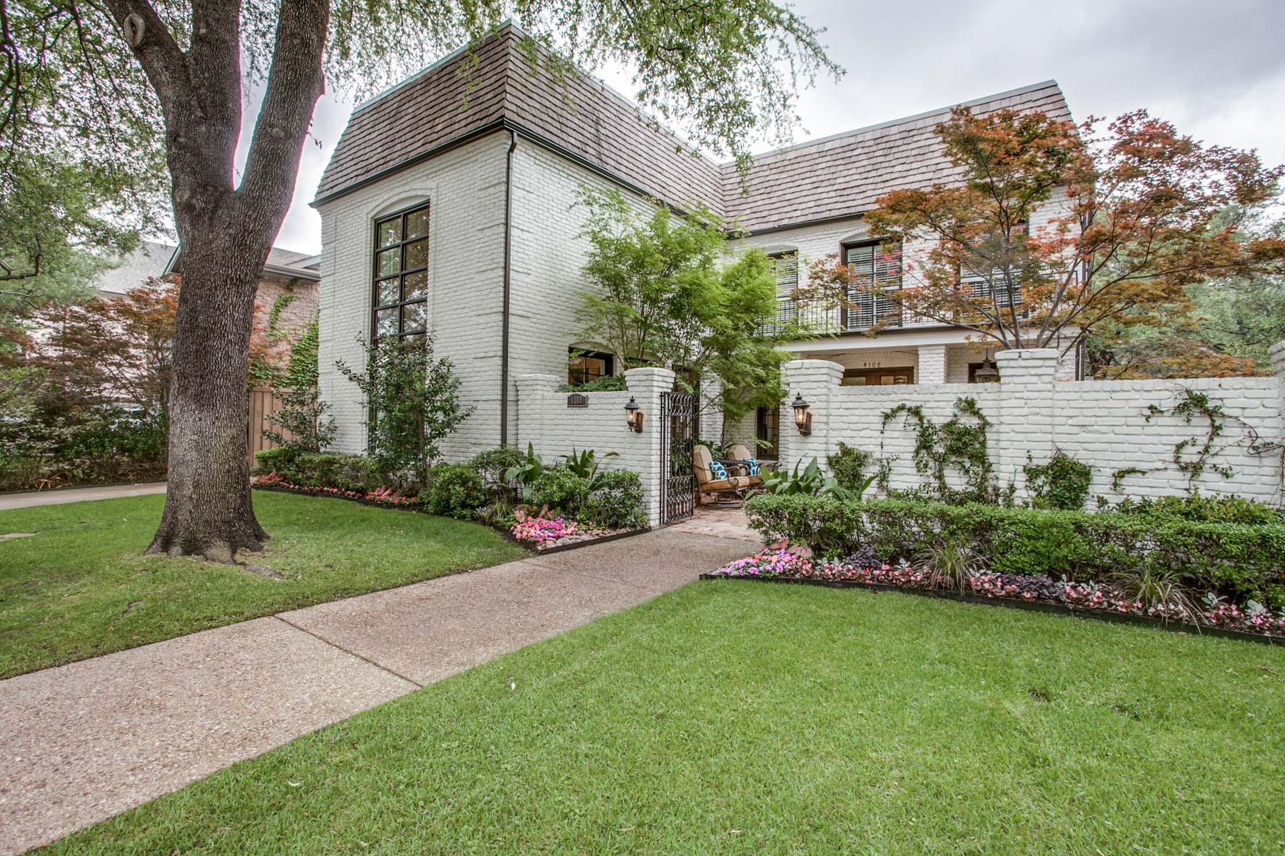 Maison unifamiliale pour l Vente à Custom University Park 4108 Stanhope St Dallas, Texas, 75205 États-Unis