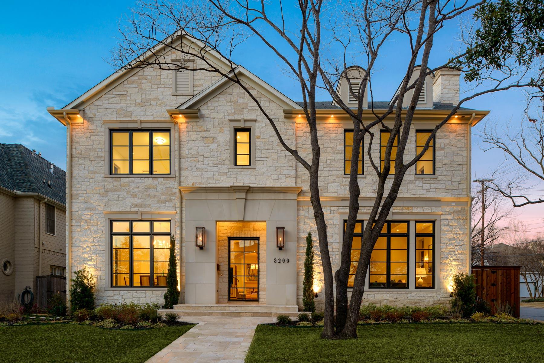 Casa Unifamiliar por un Venta en Stunning University Park New Construction 3200 Purdue Dallas, Texas, 75225 Estados Unidos
