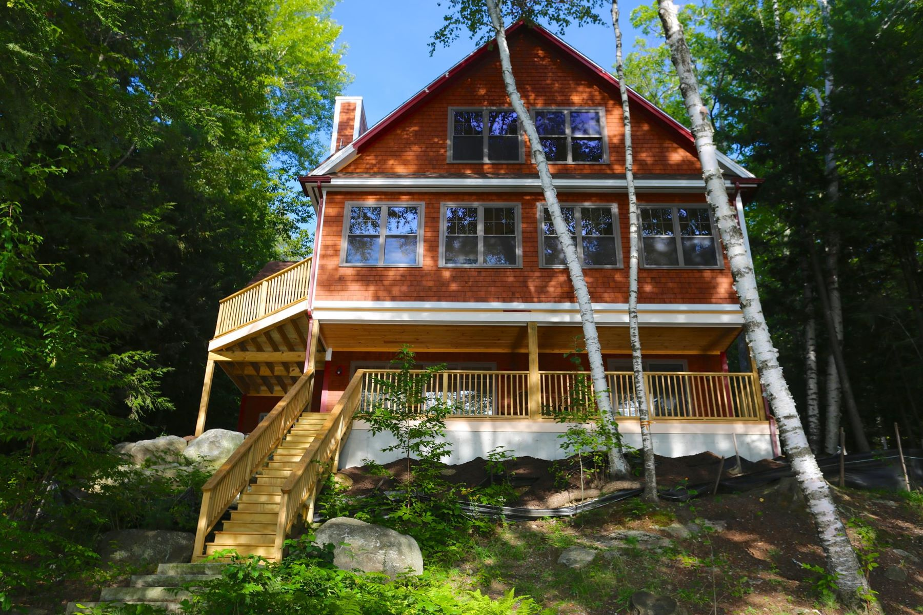 独户住宅 为 销售 在 Lake Sunapee - Eastern Shore 24 Highland 纽伯里, 新罕布什尔州, 03255 美国