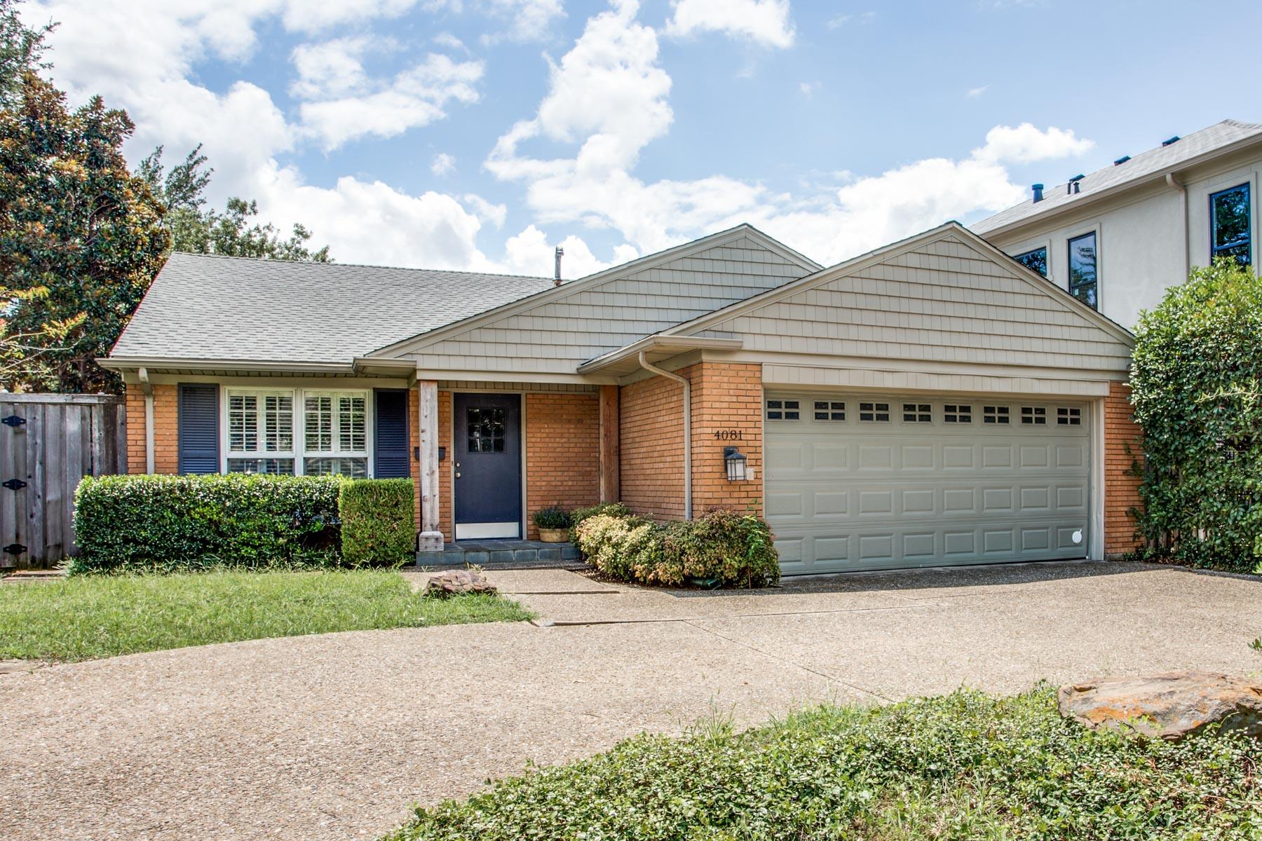 واحد منزل الأسرة للـ Sale في Cottage in University Park 4081 Amherst Avenue University Park, Texas, 75225 United States
