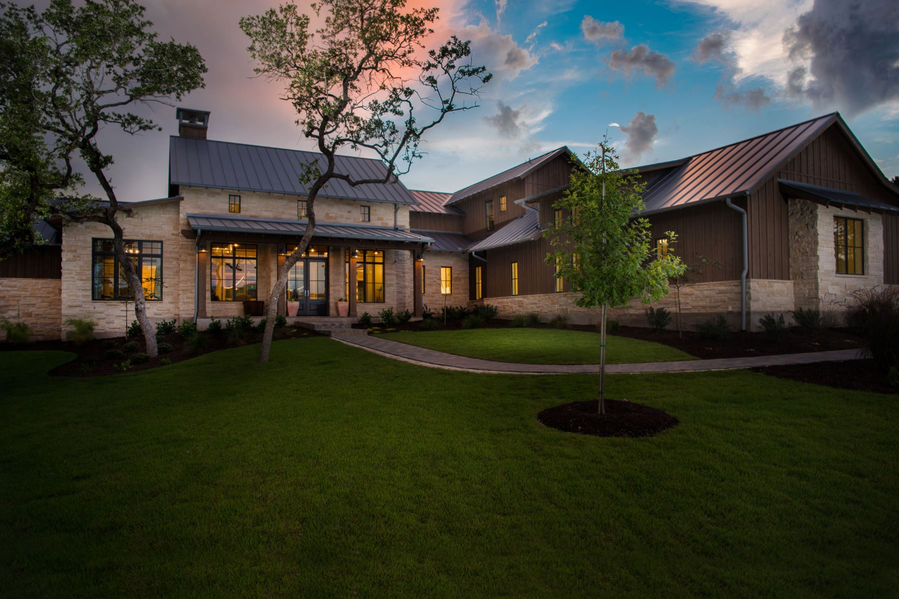 Single Family Home for Sale at Spectacular Contemporary Farmhouse 1500 Poco Bueno Ct Spicewood, Texas 78669 United States