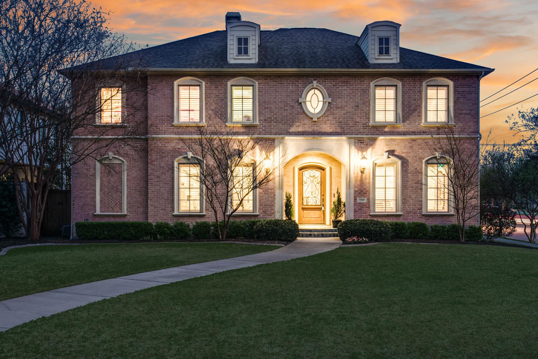 Частный односемейный дом для того Продажа на Stately Traditional University Park Home 3321 Caruth Blvd Dallas, Техас, 75225 Соединенные Штаты
