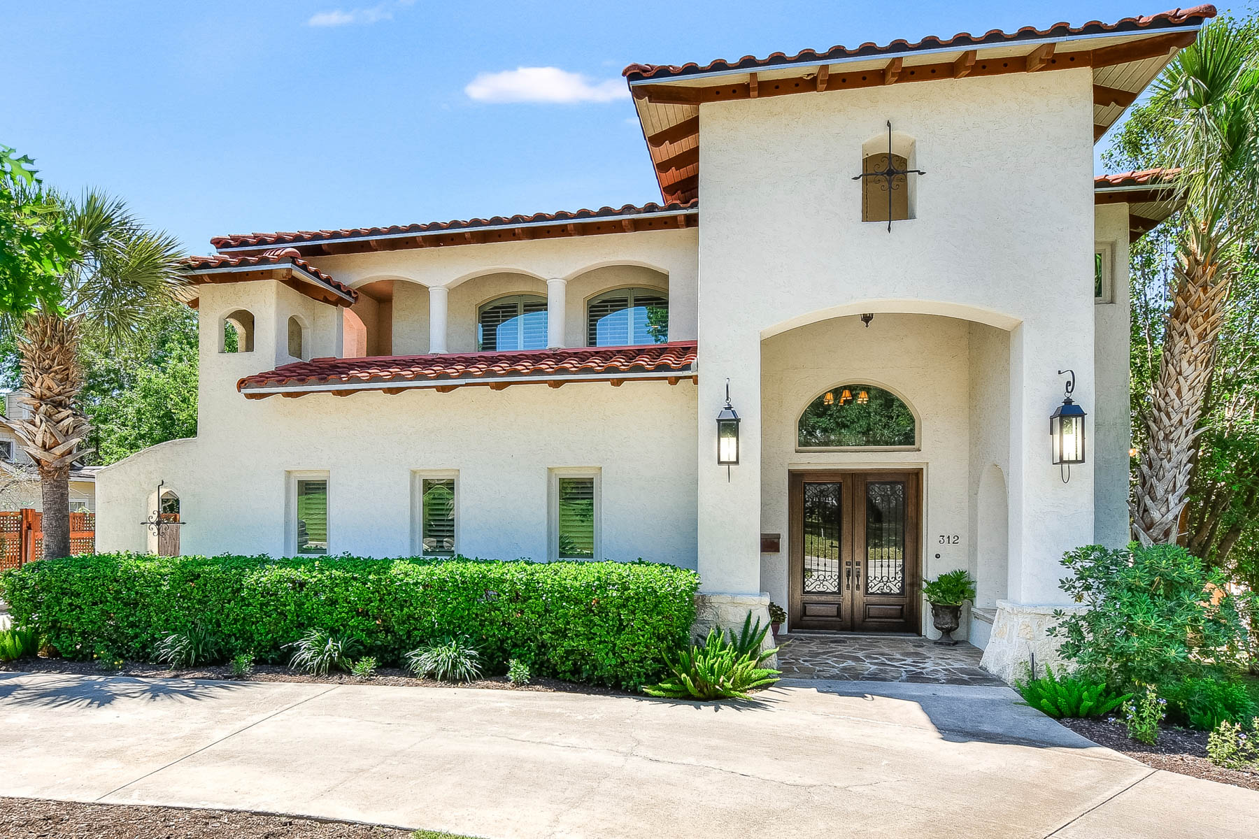 Single Family Home for Sale at Mediterranean Custom Home in Terrell Hills 312 Lilac Ln San Antonio, Texas 78209 United States