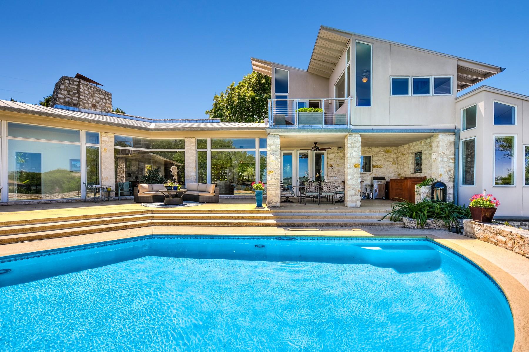 Einfamilienhaus für Verkauf beim Custom Contemporary with Amazing Lake Views 5115 Mcintyre Cir Austin, Texas, 78735 Vereinigte Staaten