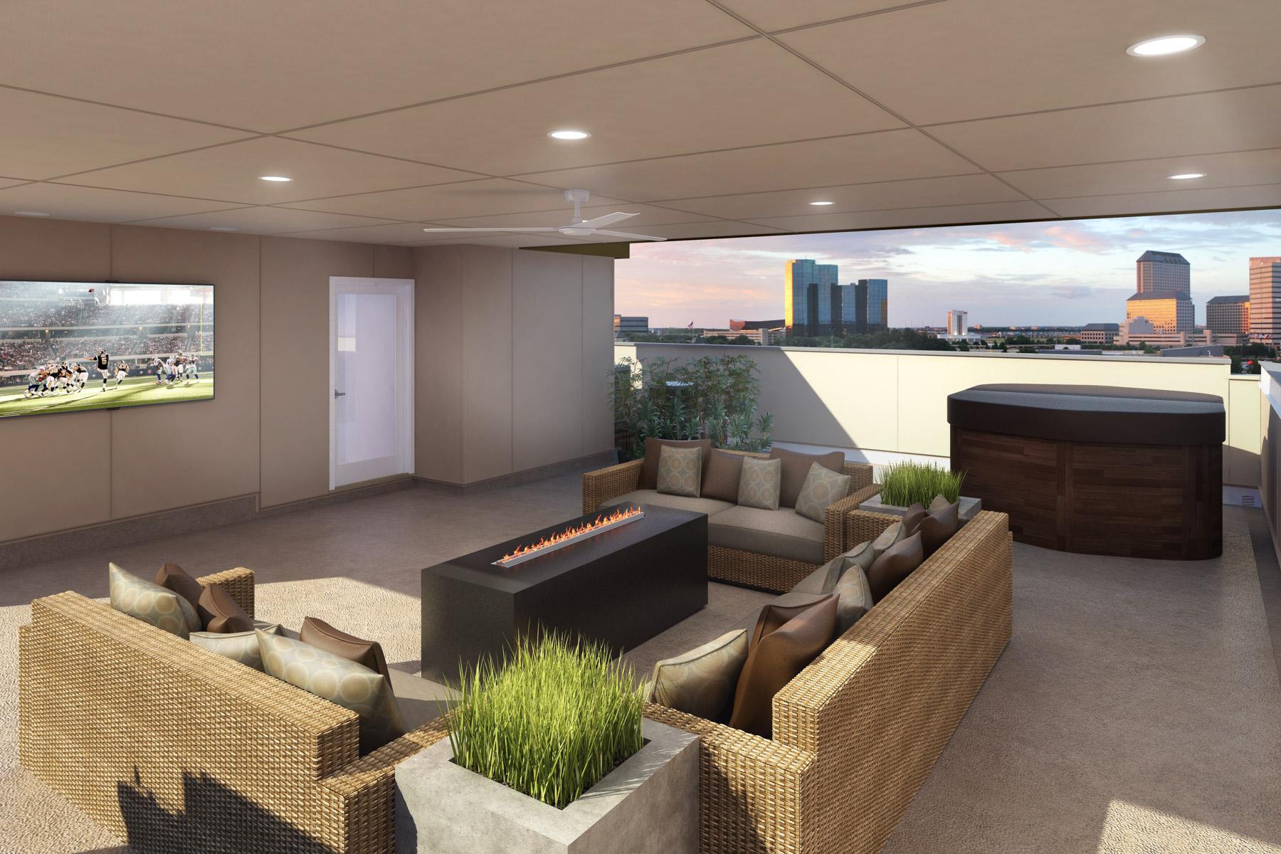واحد منزل الأسرة للـ Sale في 3 Story Condo with Rooftop Deck 101 Decker Court 601 Irving, Texas, 75062 United States