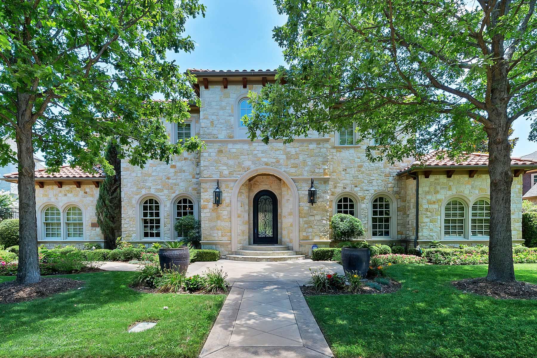 Частный односемейный дом для того Продажа на Extraordinary Custom Mediterranean in Westmont 7009 Westmont Dr Colleyville, Техас, 76034 Соединенные Штаты