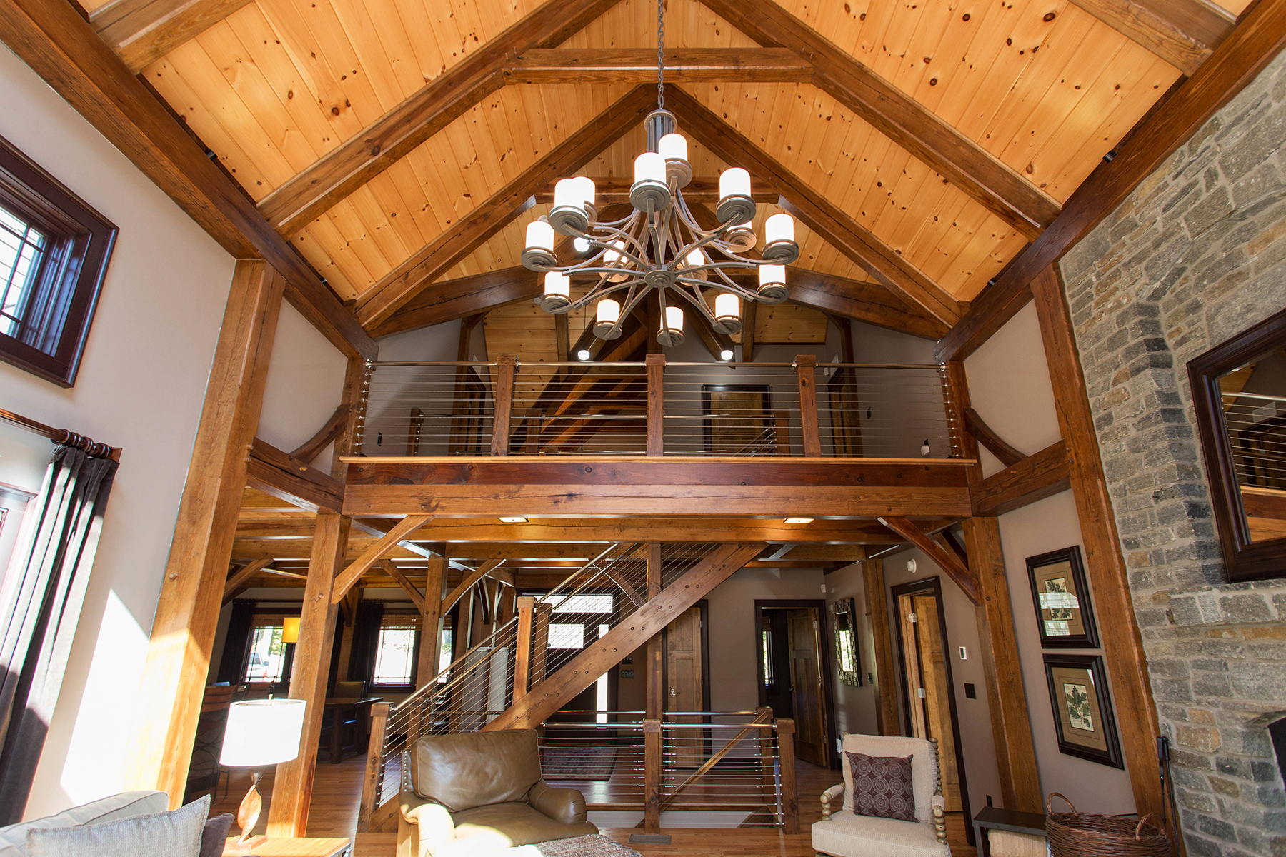 Additional photo for property listing at Luxury Wood Pegged Timber Frame 15  Straight Brook Ln 约翰斯堡, 纽约州 12853 美国