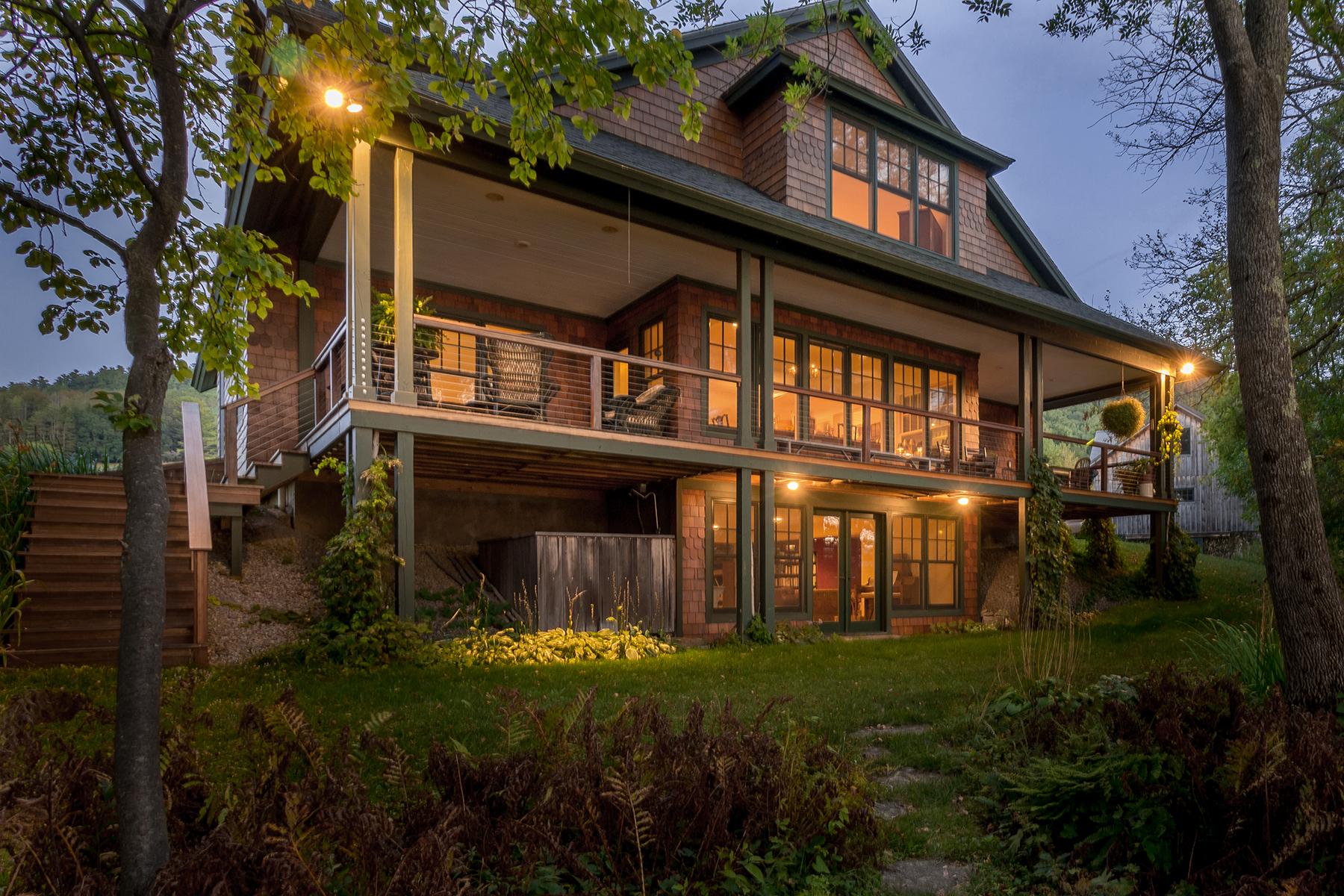 Maison unifamiliale pour l Vente à Elegant and Serene Home on Otsego Lake 418 Public Landing Rd Cooperstown, New York 13326 États-Unis