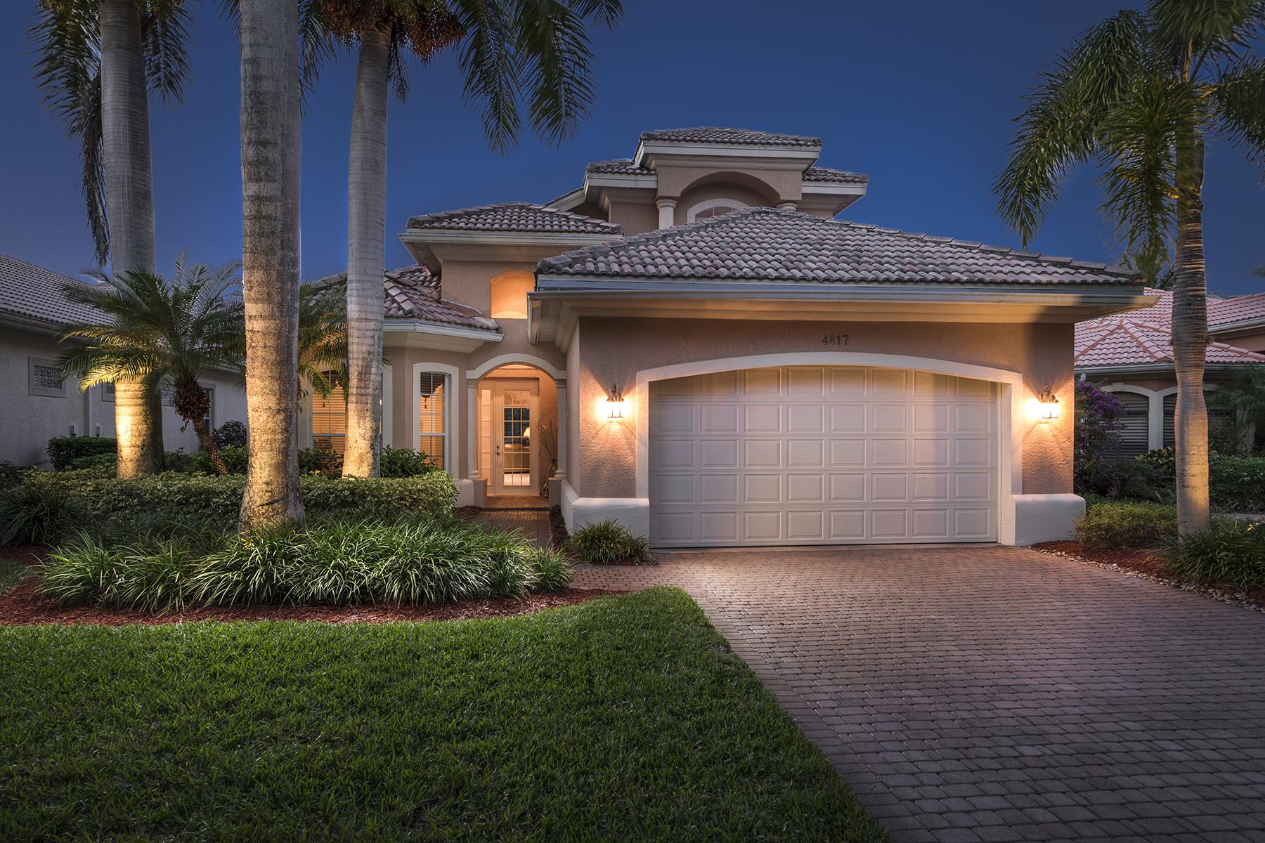 獨棟家庭住宅 為 出售 在 KENSINGSTON - NOTTINGHAM COVE 4817 Keswick Way Naples, 佛羅里達州, 34105 美國