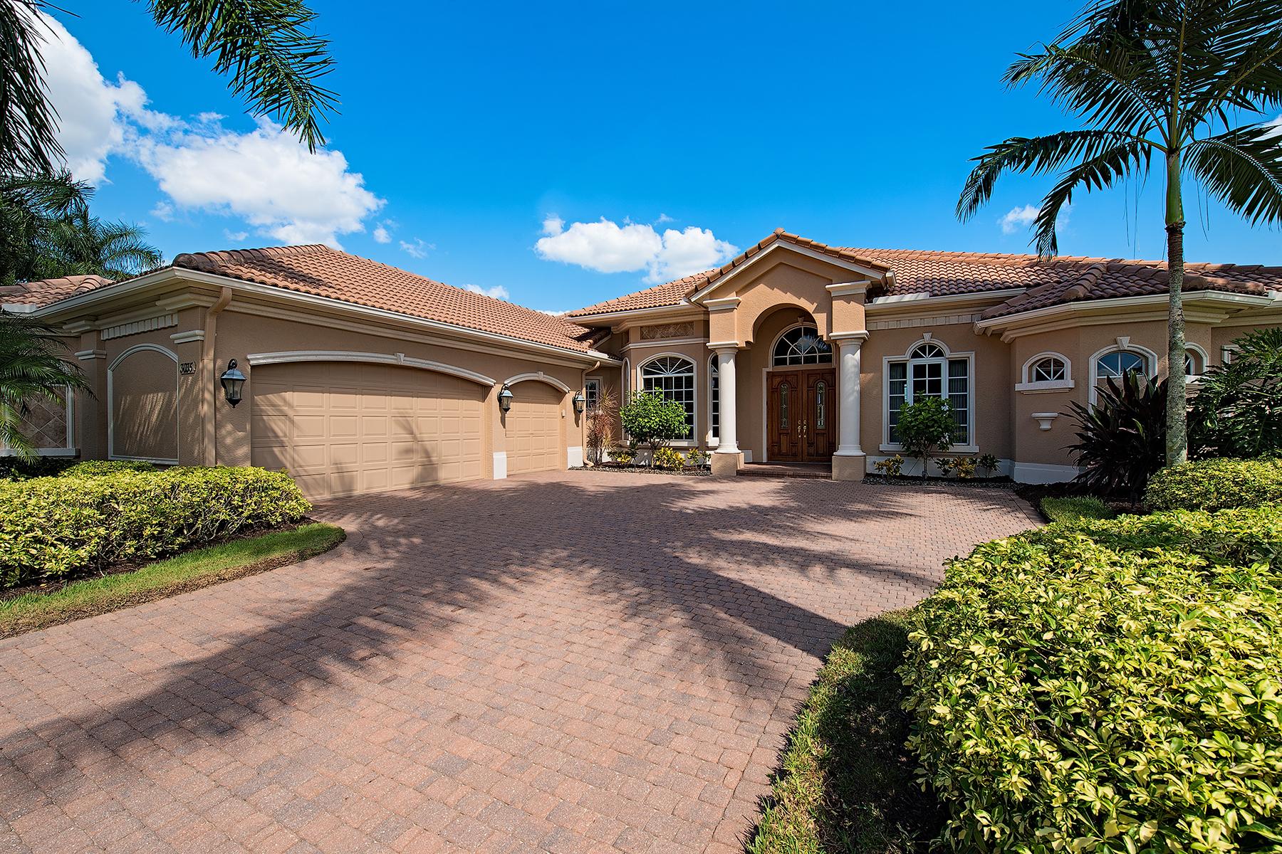 Частный односемейный дом для того Продажа на OLDE CYPRESS - DA VINCI ESTATES 3035 Mona Lisa Blvd Naples, Флорида, 34119 Соединенные Штаты