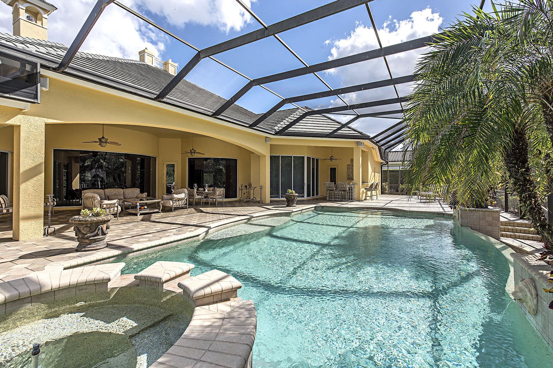 단독 가정 주택 용 매매 에 PELICAN MARSH - BAY LAUREL ESTATES 8707 Purslane Dr Naples, 플로리다, 34109 미국