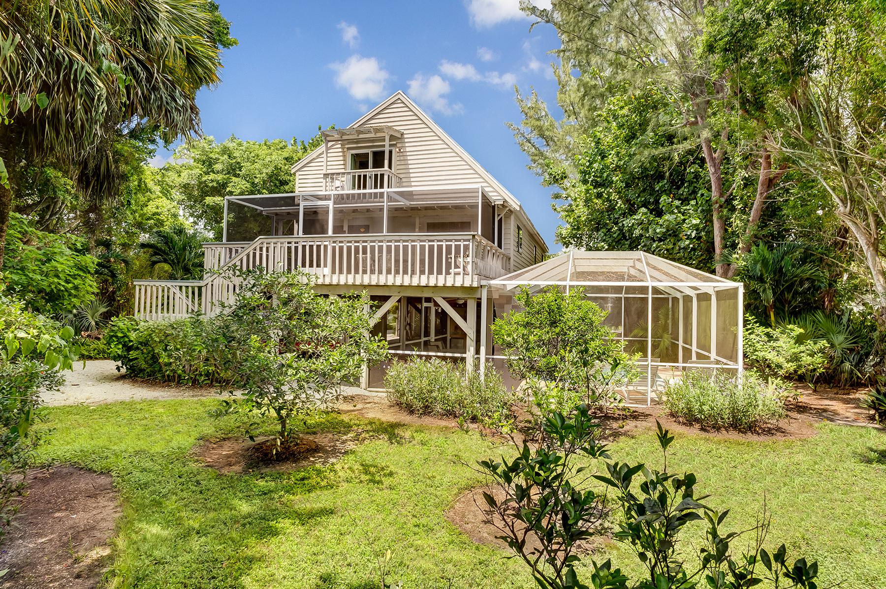 Частный односемейный дом для того Продажа на SANIBEL 1040 Sand Castle Rd Sanibel, Флорида, 33957 Соединенные Штаты