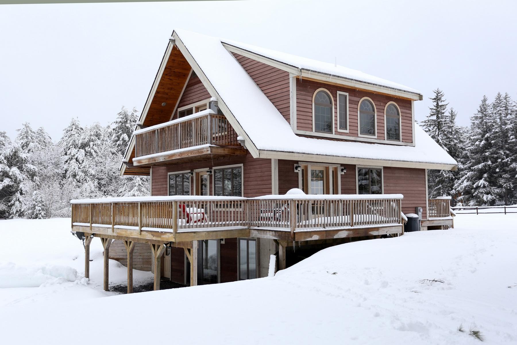 Maison unifamiliale pour l Vente à New Adirondack Chalet 1205 Harrisburg Rd Stony Creek, New York 12878 États-Unis