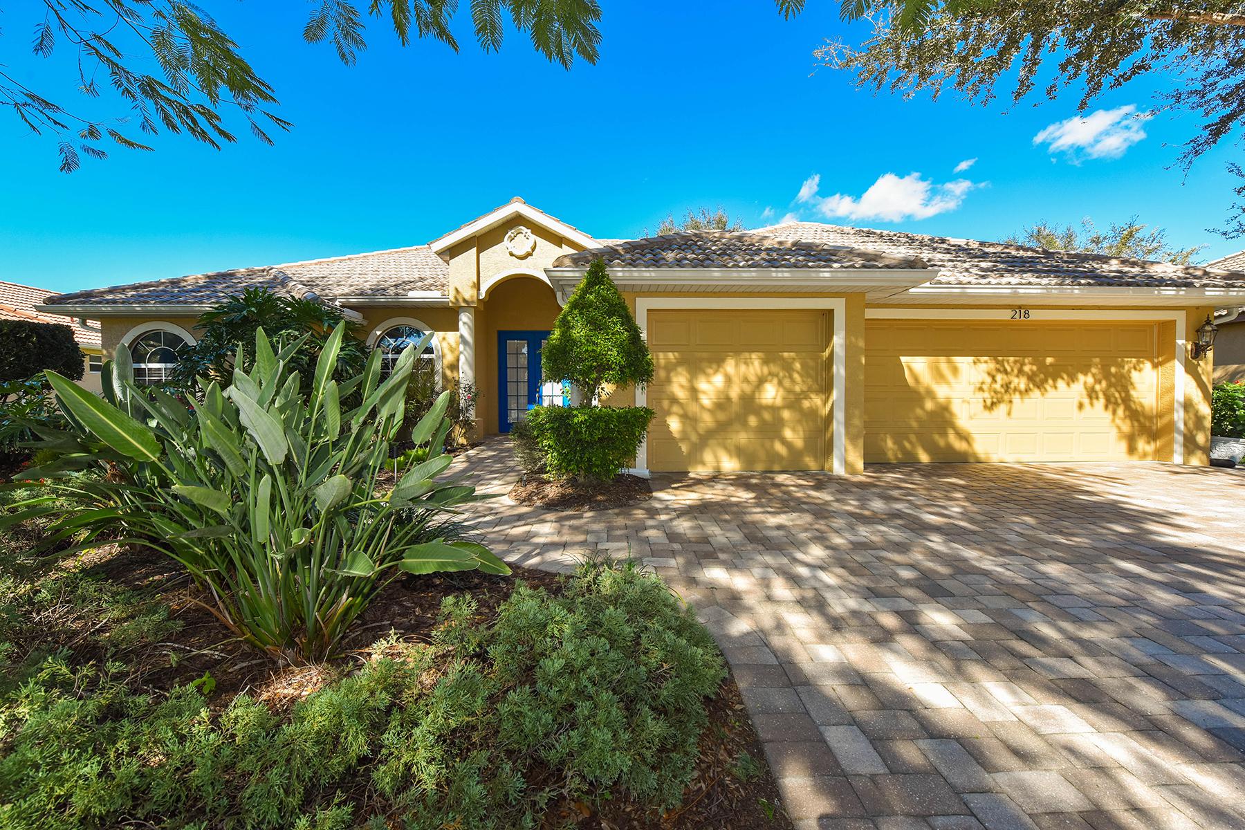 獨棟家庭住宅 為 出售 在 PARK TRACE ESTATES 218 Willow Bend Way Osprey, 佛羅里達州, 34229 美國