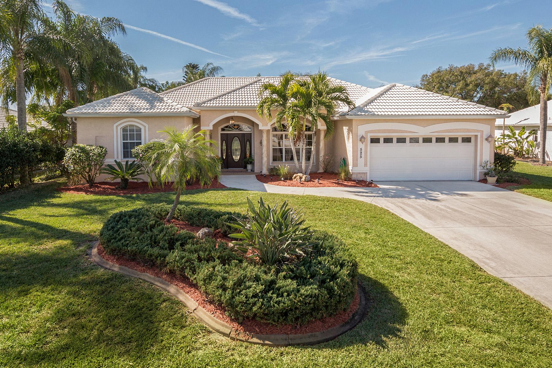 Casa Unifamiliar por un Venta en PLANTATION LAKES 525 Warwick Dr Venice, Florida, 34293 Estados Unidos