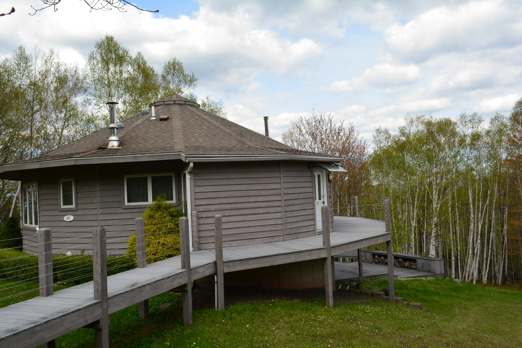 Single Family Home for Sale at Round House with Catskill Mountain Views 461 Beshroner Rd Prattsville, New York 12468 United States