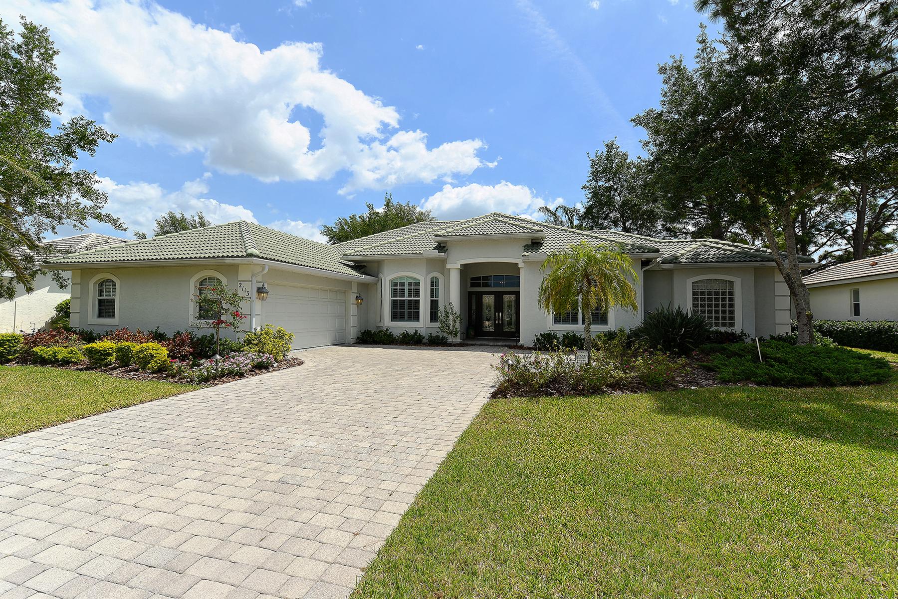 Casa Unifamiliar por un Venta en CALUSA LAKES 2113 Muskogee Trl Nokomis, Florida, 34275 Estados Unidos