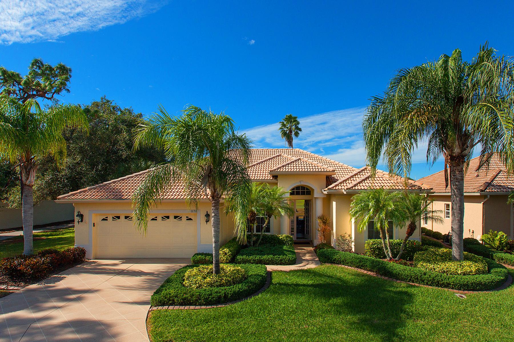 Частный односемейный дом для того Продажа на PELICAN POINTE GOLF AND COUNTRY CLUB 1170 Kittiwake Dr, Venice, Флорида, 34285 Соединенные Штаты