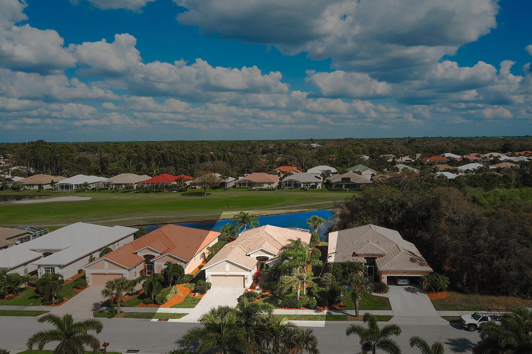 Частный односемейный дом для того Продажа на SAWGRASS 632 Misty Pine Dr, Venice, Флорида, 34292 Соединенные Штаты
