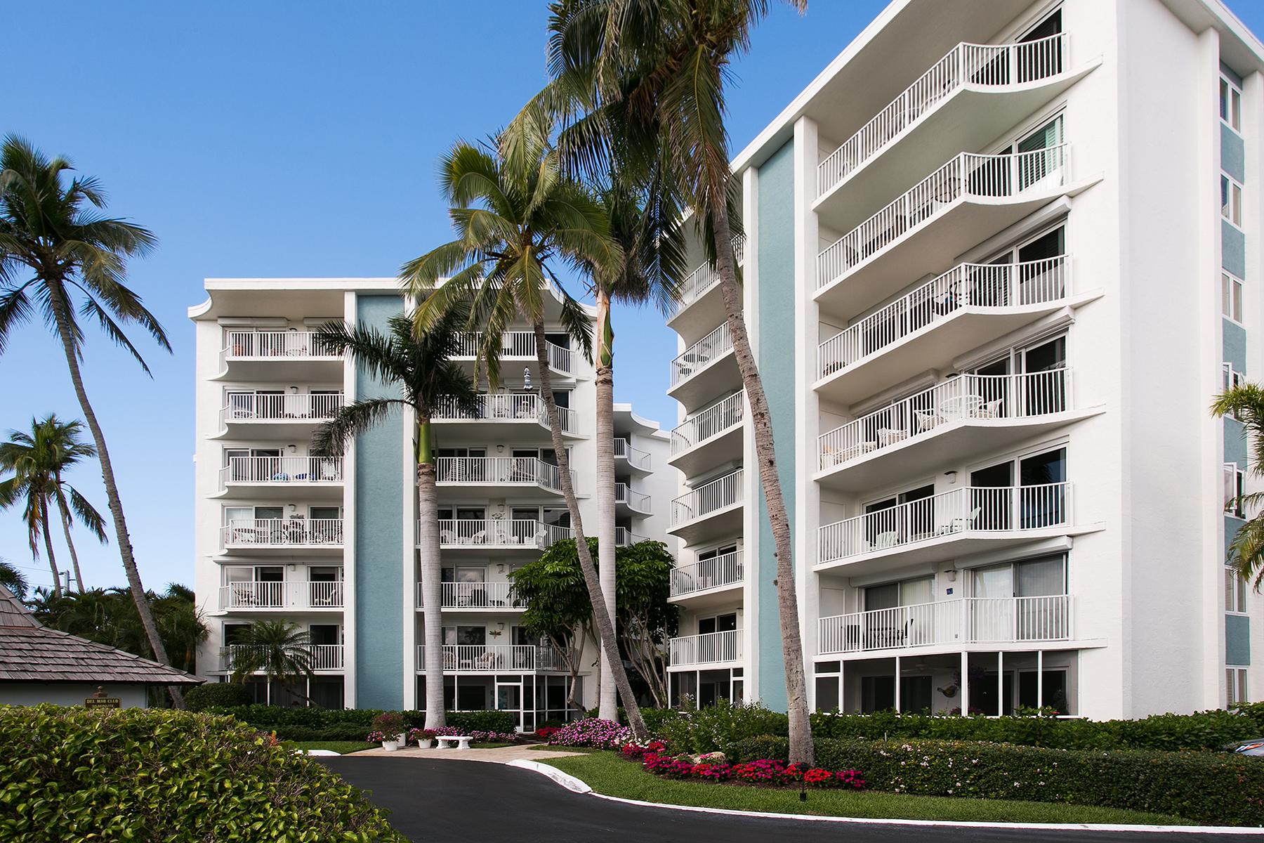 共管式独立产权公寓 为 销售 在 COQUINA SANDS - DEL MAR 1300 Gulf Shore Blvd N 307, 那不勒斯, 佛罗里达州, 34102 美国