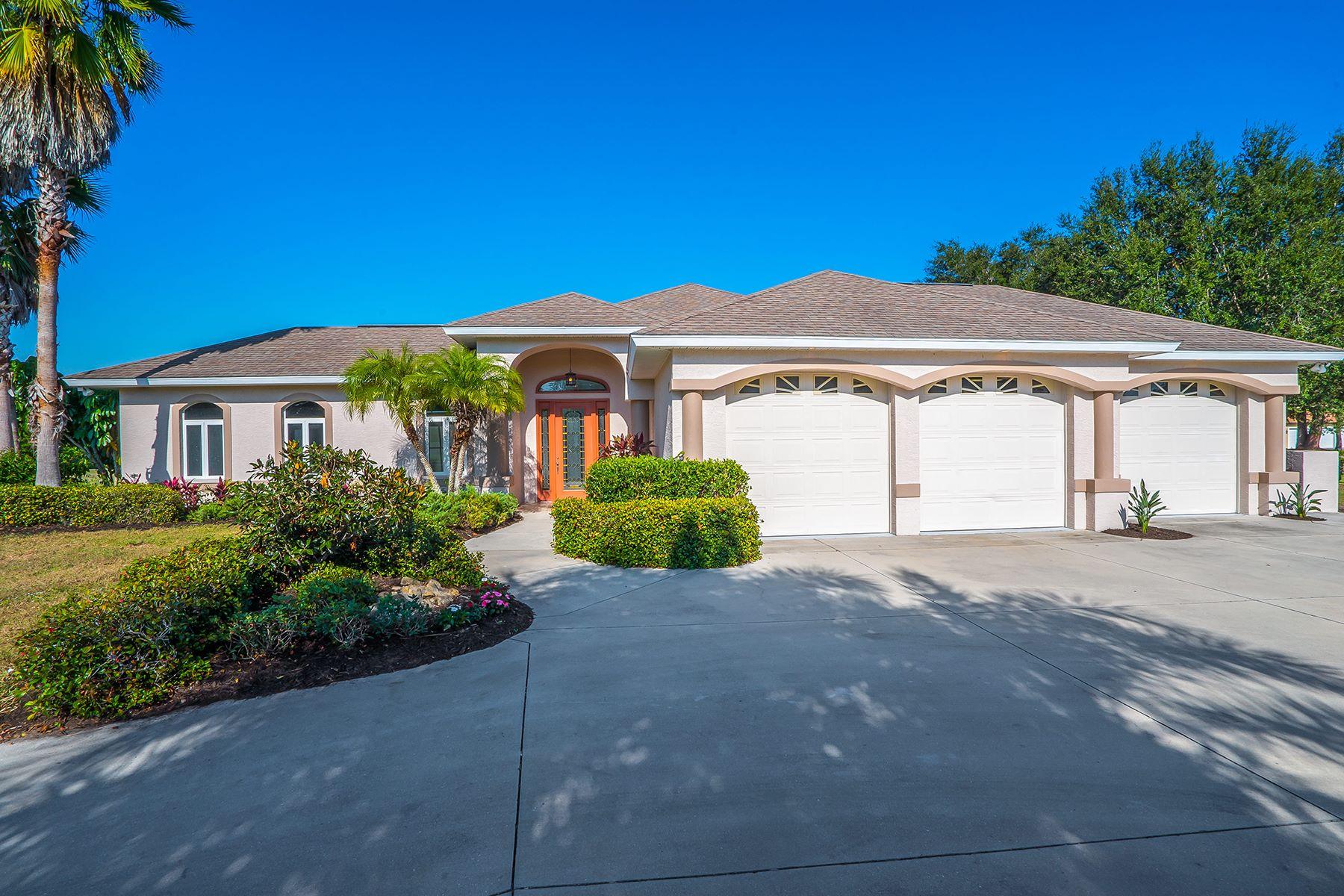 Частный односемейный дом для того Продажа на MISSION VALLEY ESTATES 799 Capistrano Dr Nokomis, Флорида, 34275 Соединенные Штаты
