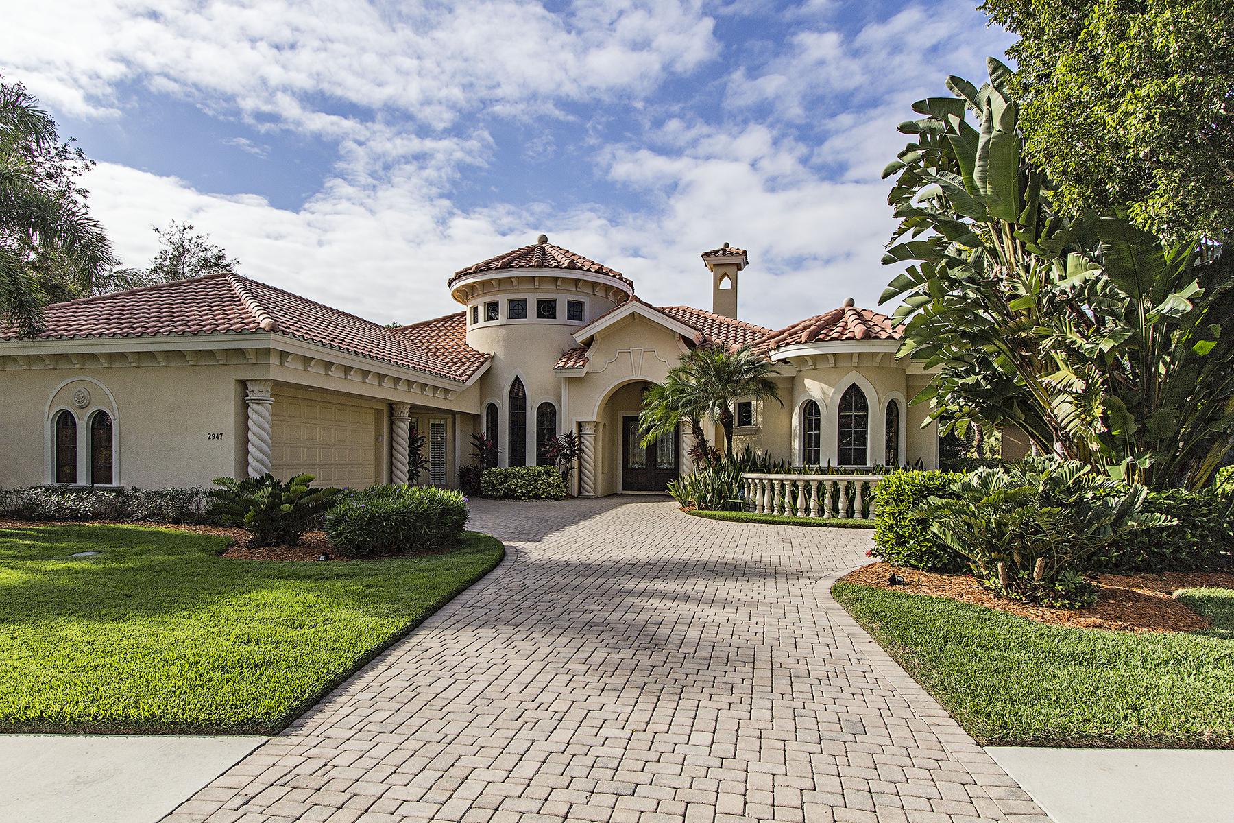 단독 가정 주택 용 매매 에 Naples 2947 Mona Lisa Blvd Naples, 플로리다, 34119 미국