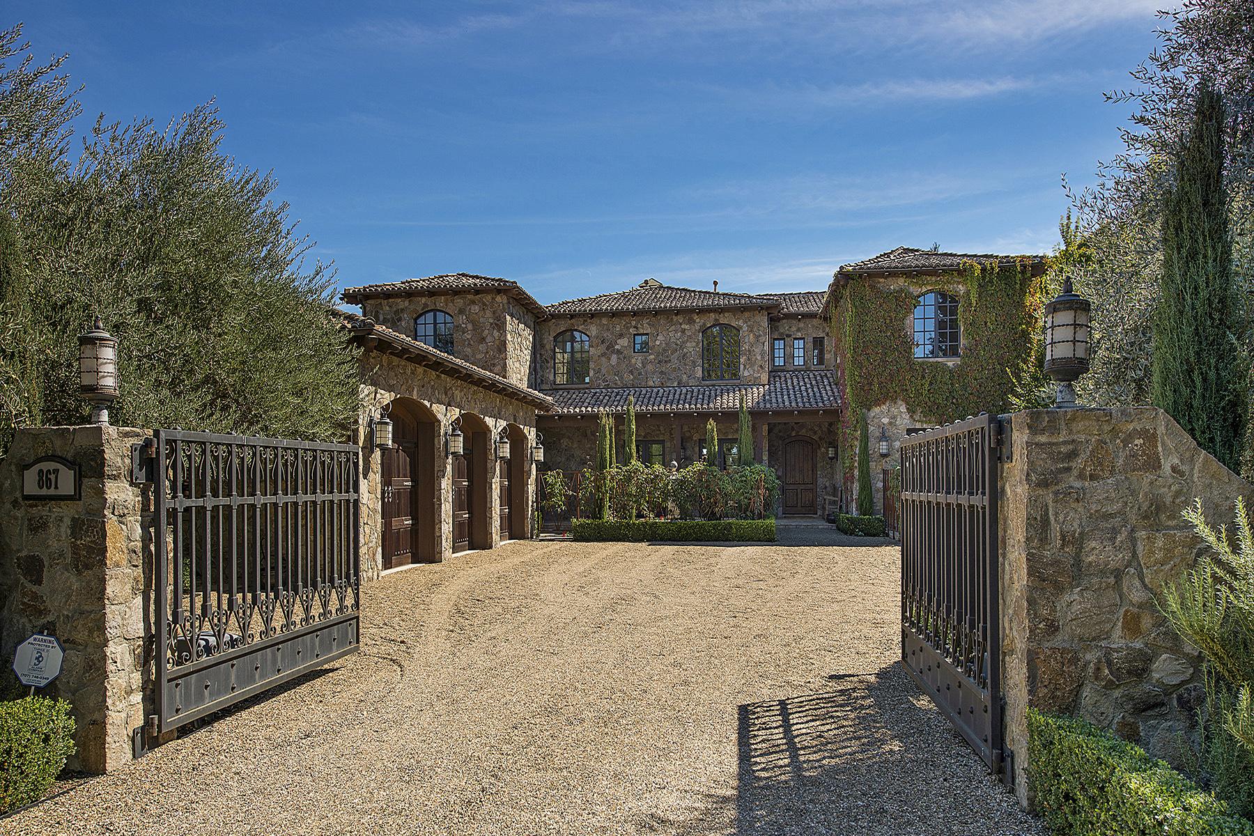 Maison unifamiliale pour l Vente à A Wine Country Villa With Modern Flair 867 White Ln St. Helena, Californie 94574 États-Unis