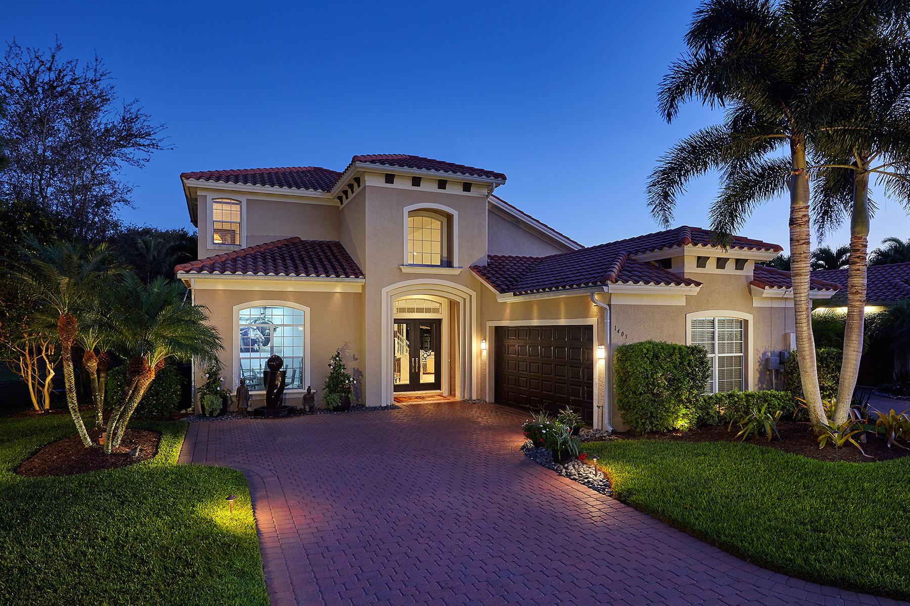Частный односемейный дом для того Продажа на PELICAN MARSH - PORTOFINO 1405 Via Portofino Naples, Флорида, 34108 Соединенные Штаты