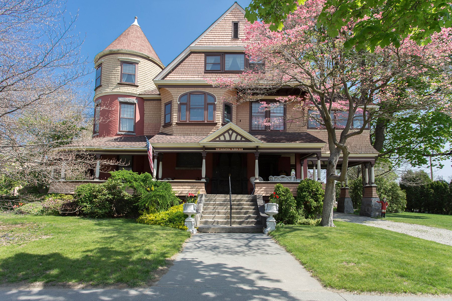 Single Family Home for Sale at Exquisite Saratoga Trackside Victorian 203 Union Av Saratoga Springs, New York 12866 United States