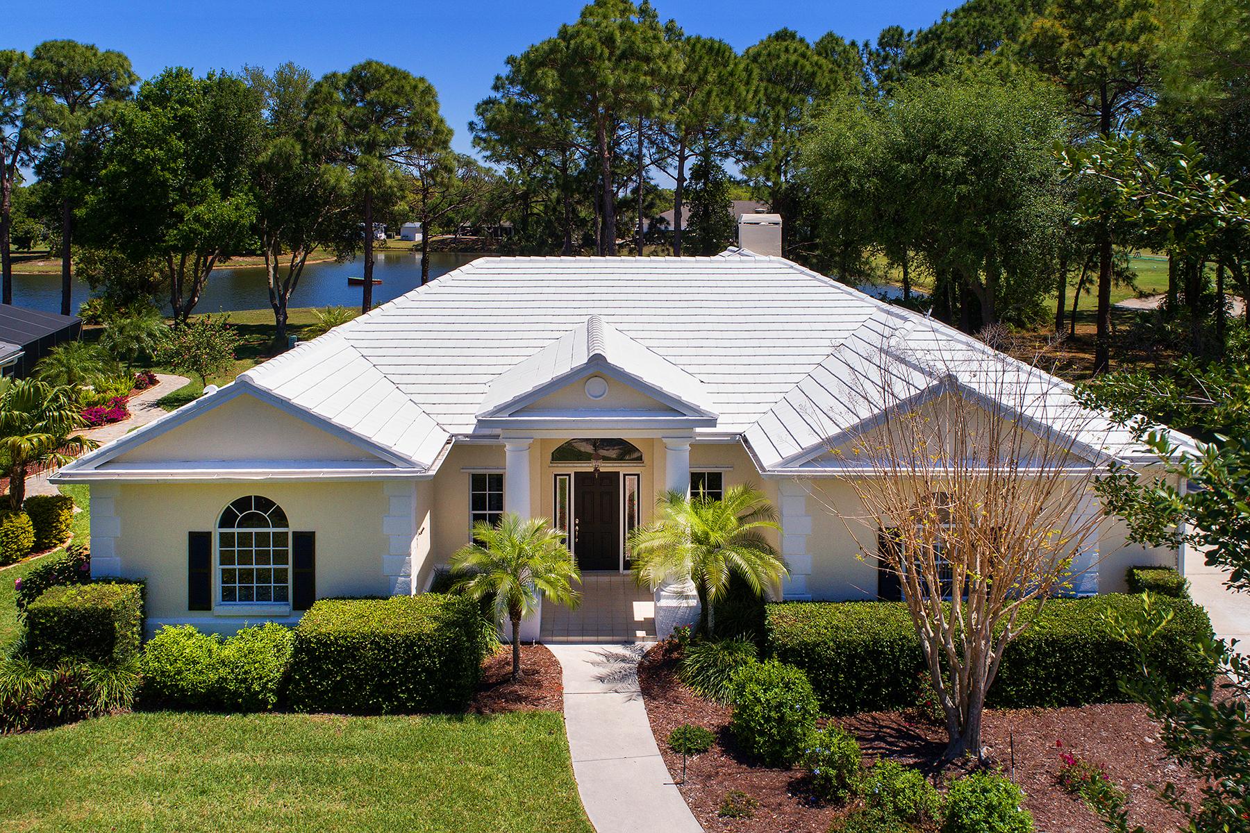 獨棟家庭住宅 為 出售 在 CALUSA LAKES ESTATES 1950 White Feather Ln Nokomis, 佛羅里達州, 34275 美國