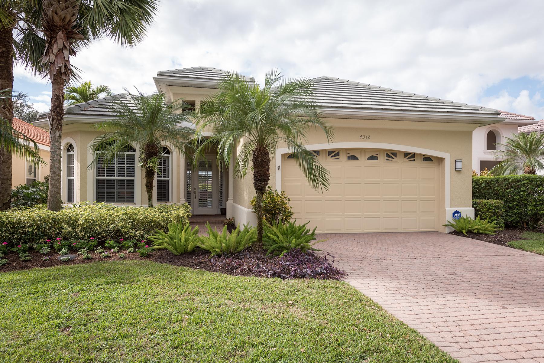 Single Family Home for Sale at KENSINGTON - SHEFFIELD VILLAS 4312 Kensington High St, Naples, Florida, 34105 United States