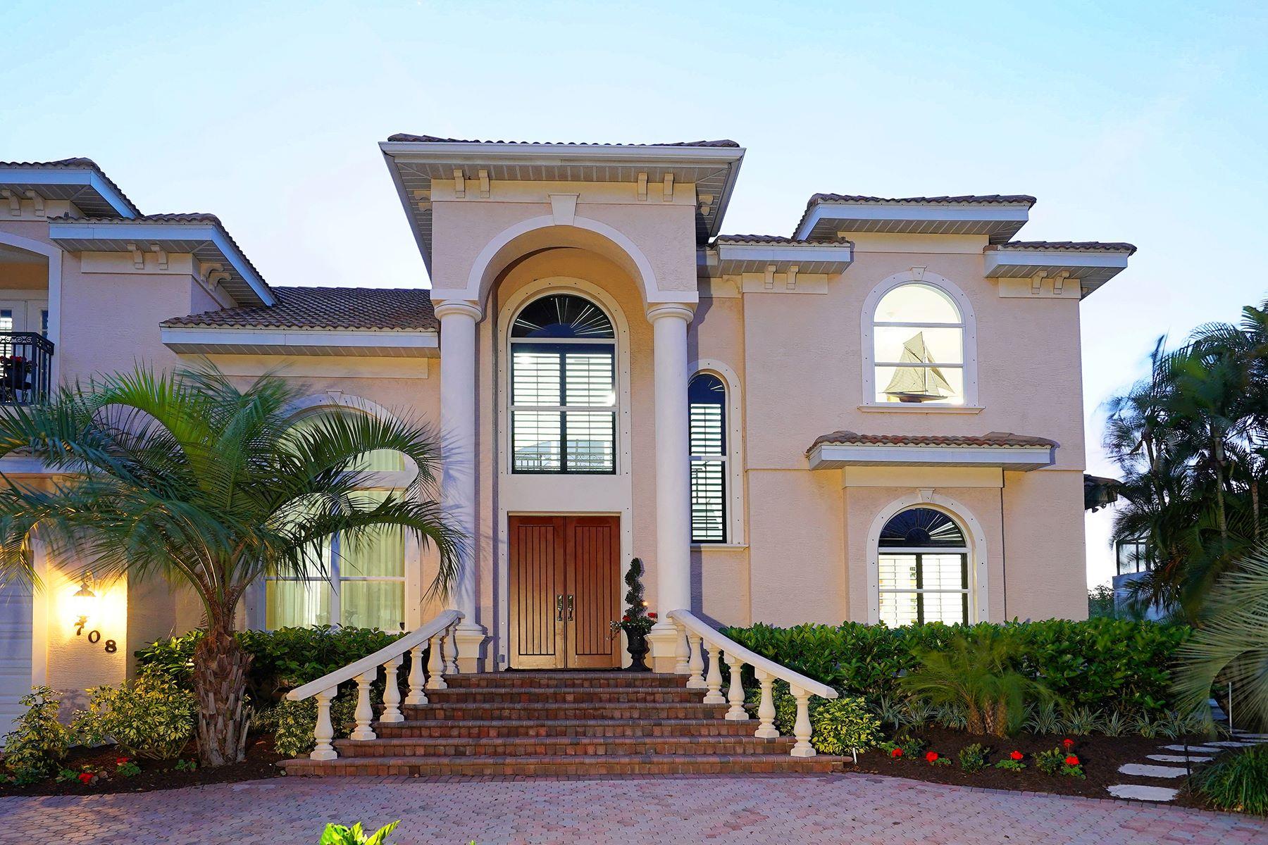 Maison unifamiliale pour l Vente à HIDEAWAY BAY 708 Hideaway Bay Ln Longboat Key, Florida, 34228 États-Unis